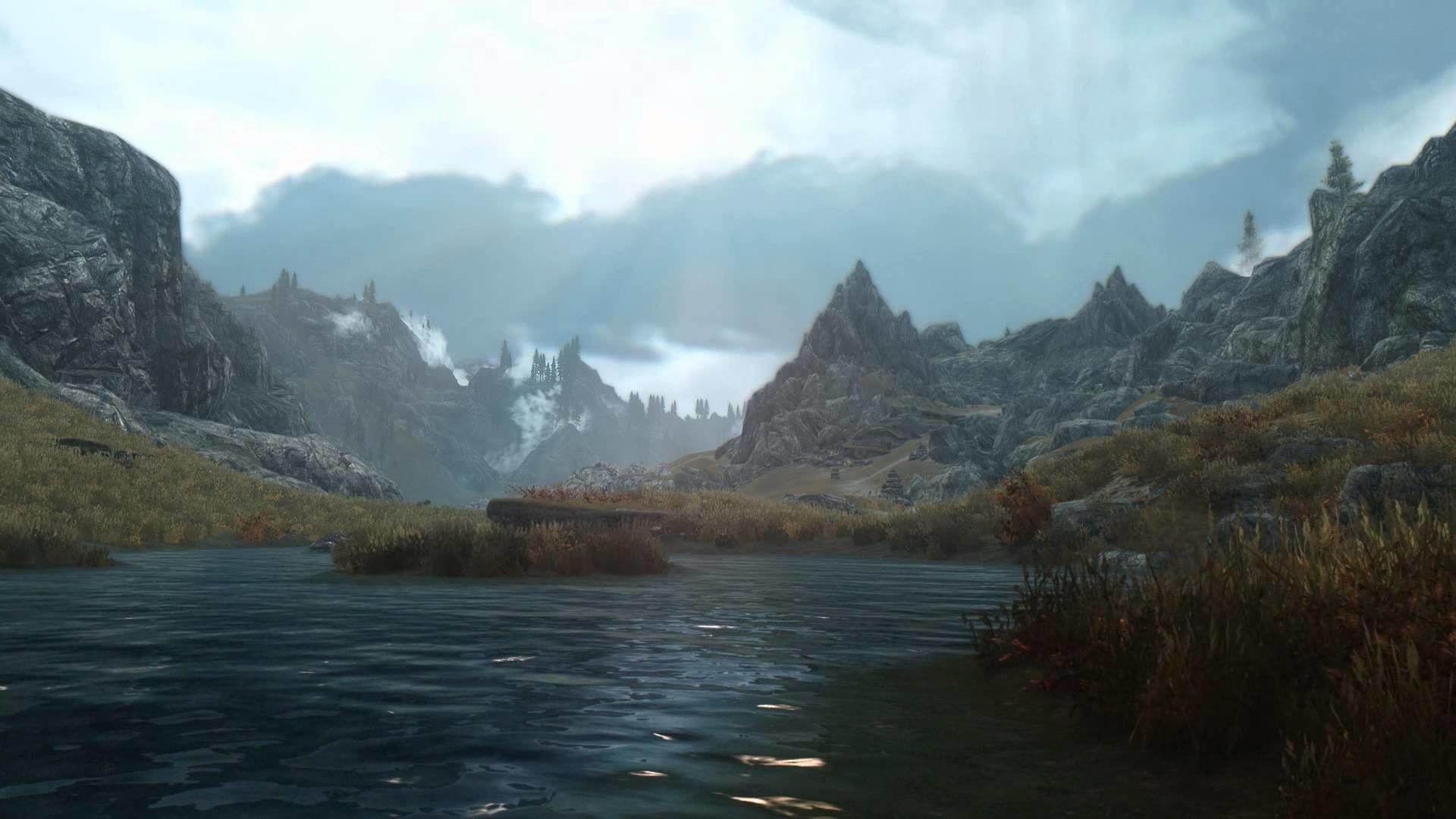 Elder Scrolls V Skyrim – Heavily Modded Scene – [Live Wallpaper] – (1080p)  – YouTube