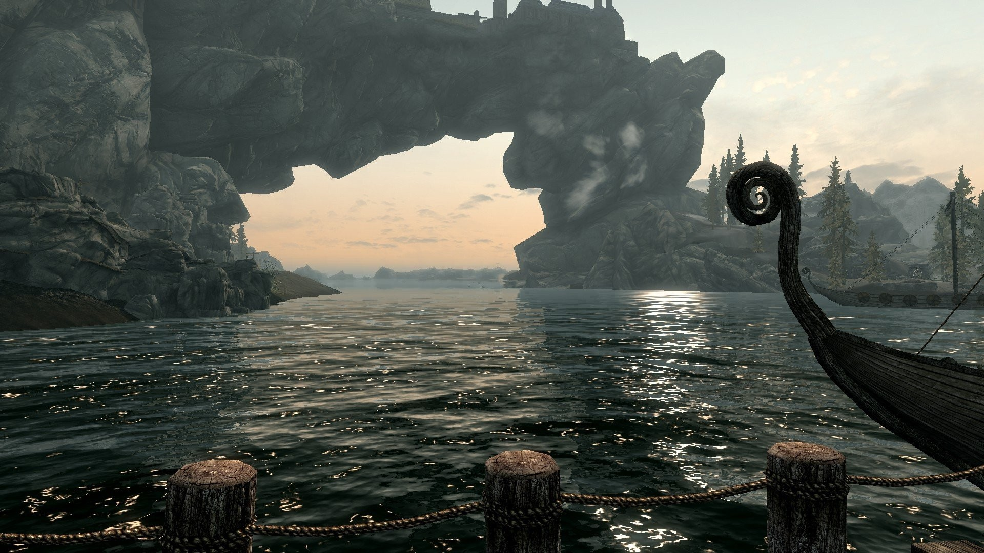 Water boats lakes The Elder Scrolls V: Skyrim wallpaper      243165   WallpaperUP