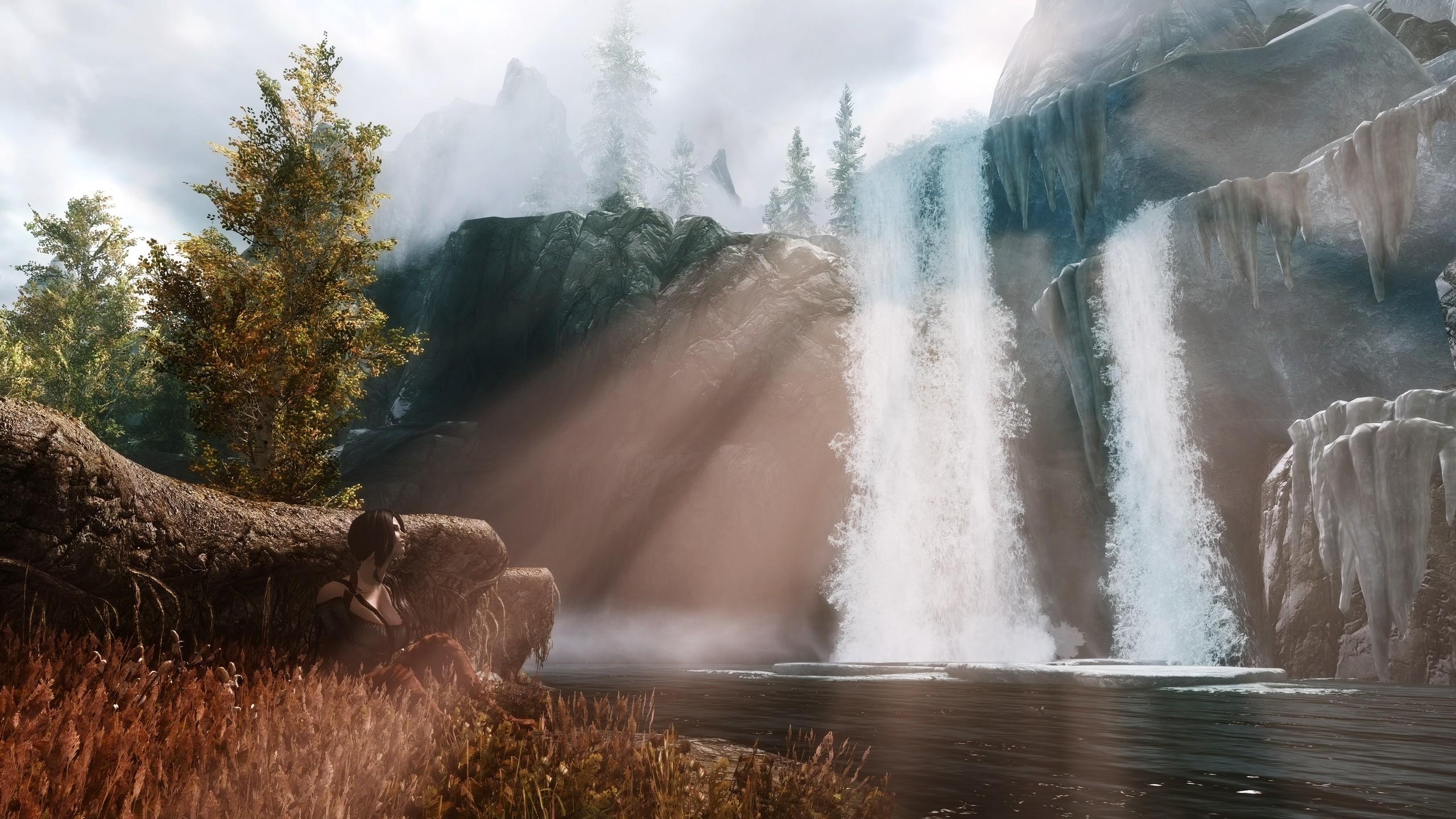 Skyrim Elder Scrolls Waterfall wallpaper     85906   WallpaperUP