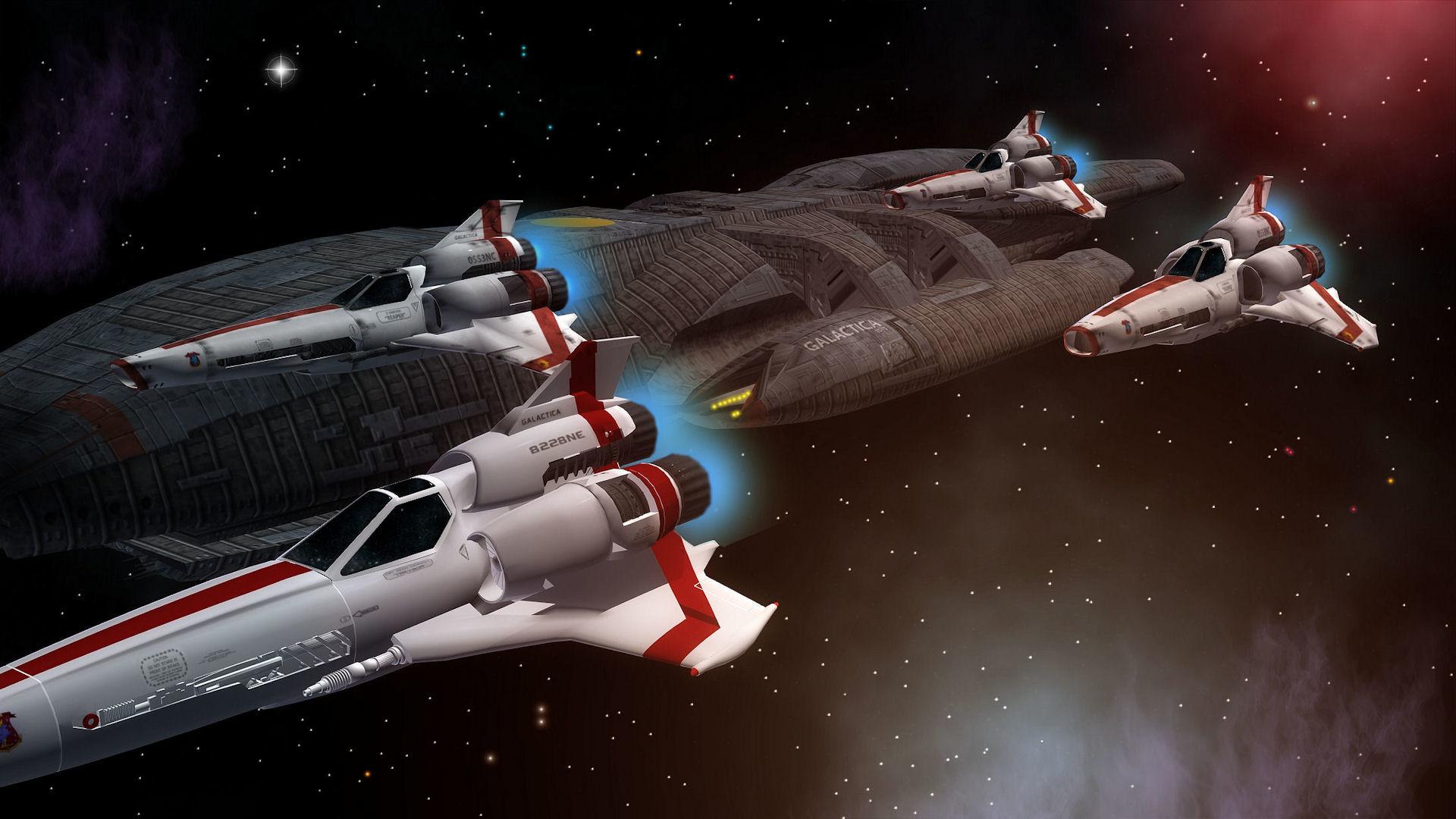 Sci Fi – Battlestar Galactica Spaceship Space Wallpaper