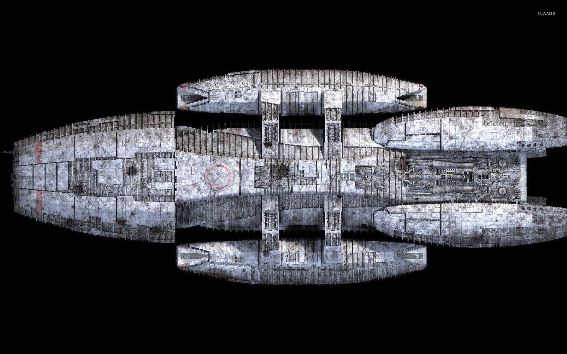 Battlestar Galactica spaceship [2] wallpaper jpg