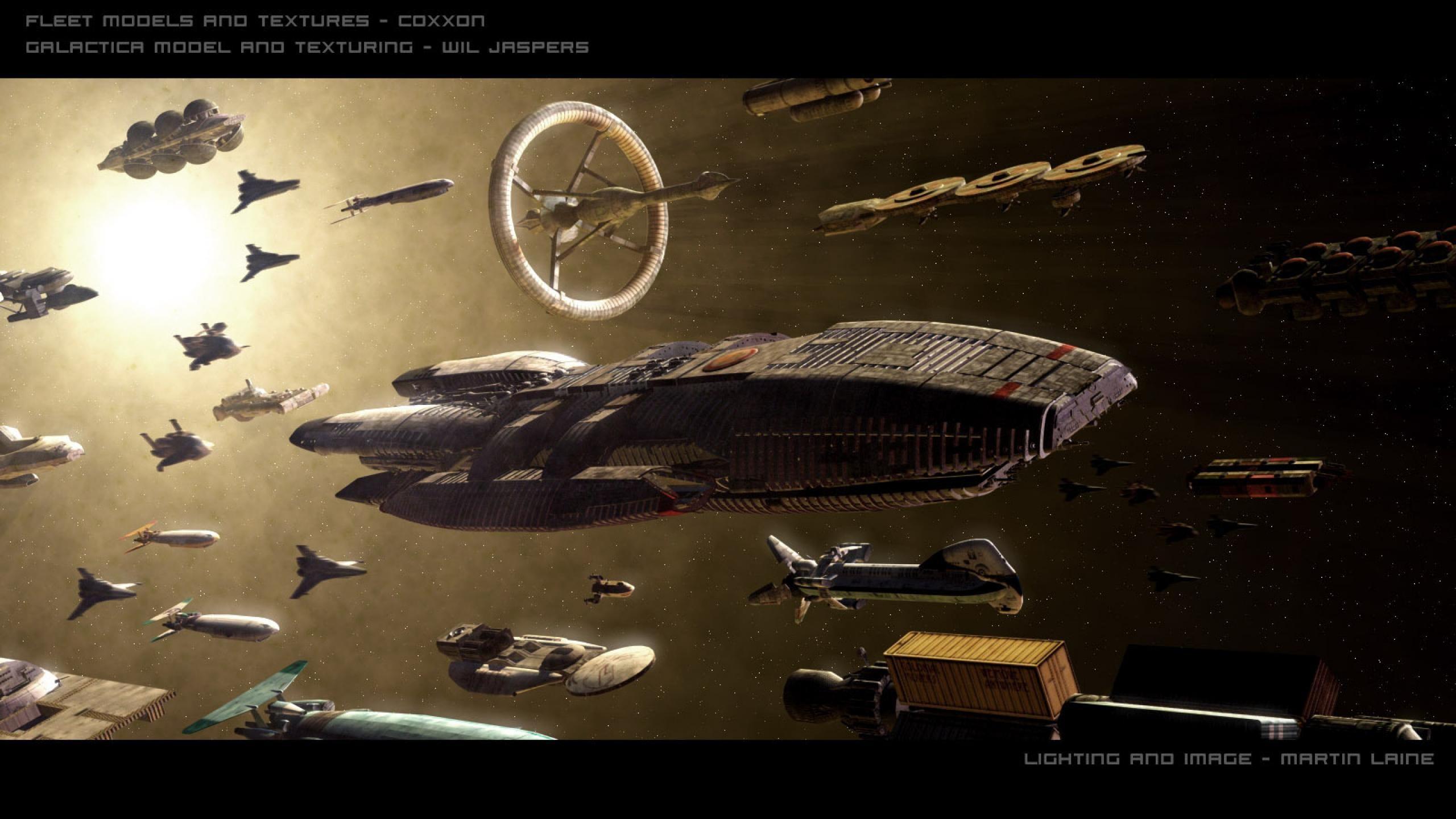the caravan bsg fleet battlestar galactica #mQ8