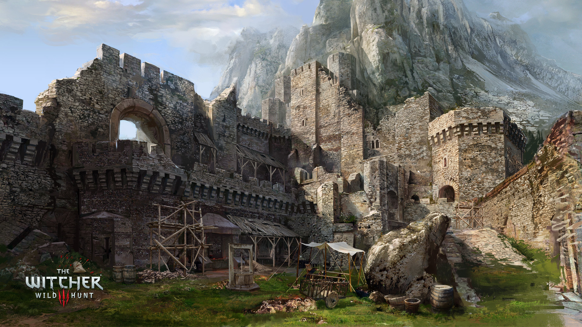 Wallpaper the witcher 3 wild hunt, caer morhen, well, mountain,  fortress