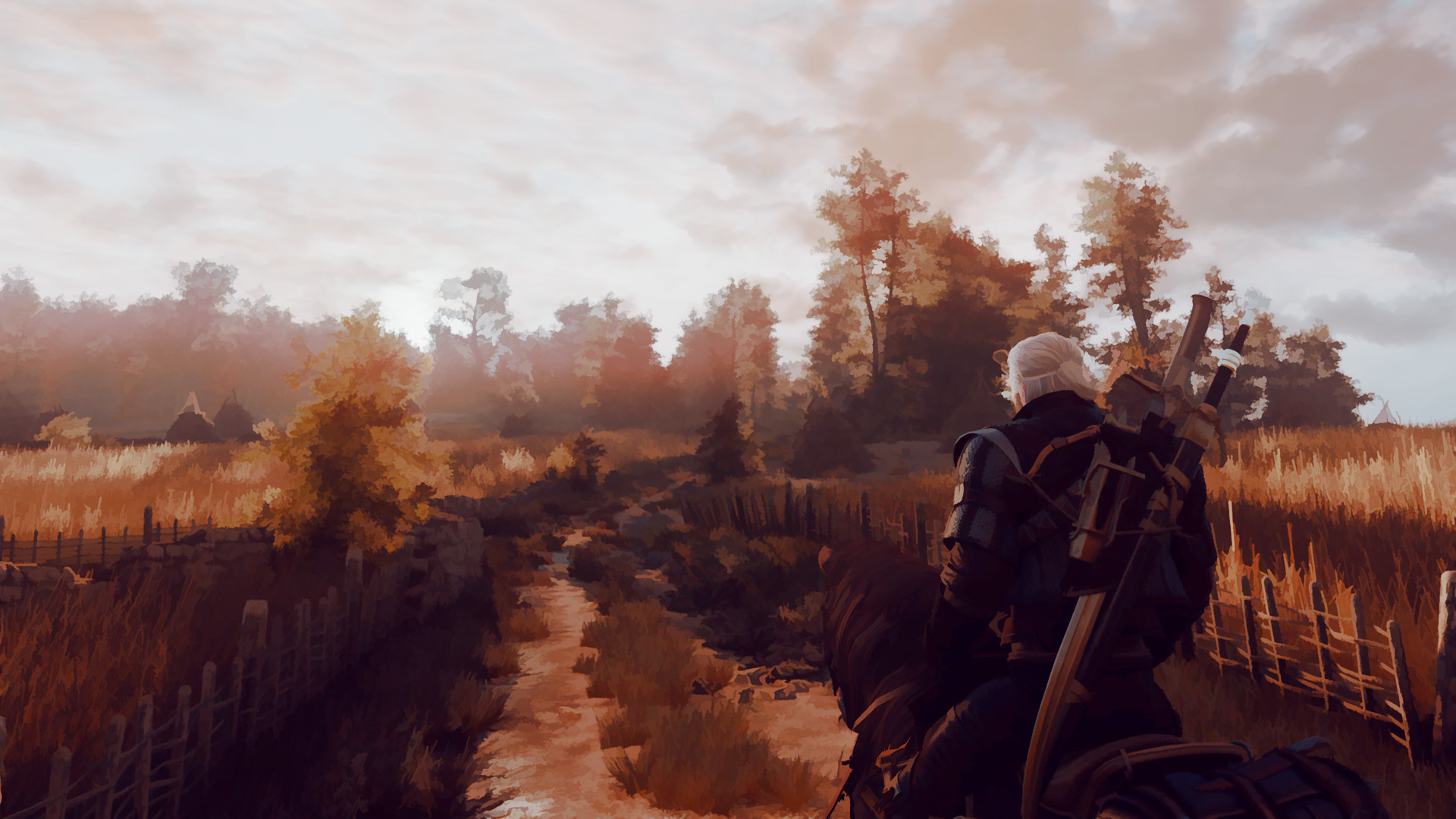 Here are 63 screenshots of The Witcher III made to look like paintings  using mods and photoshop; all images are 1080p. For those using ultrawide  (21:9) …