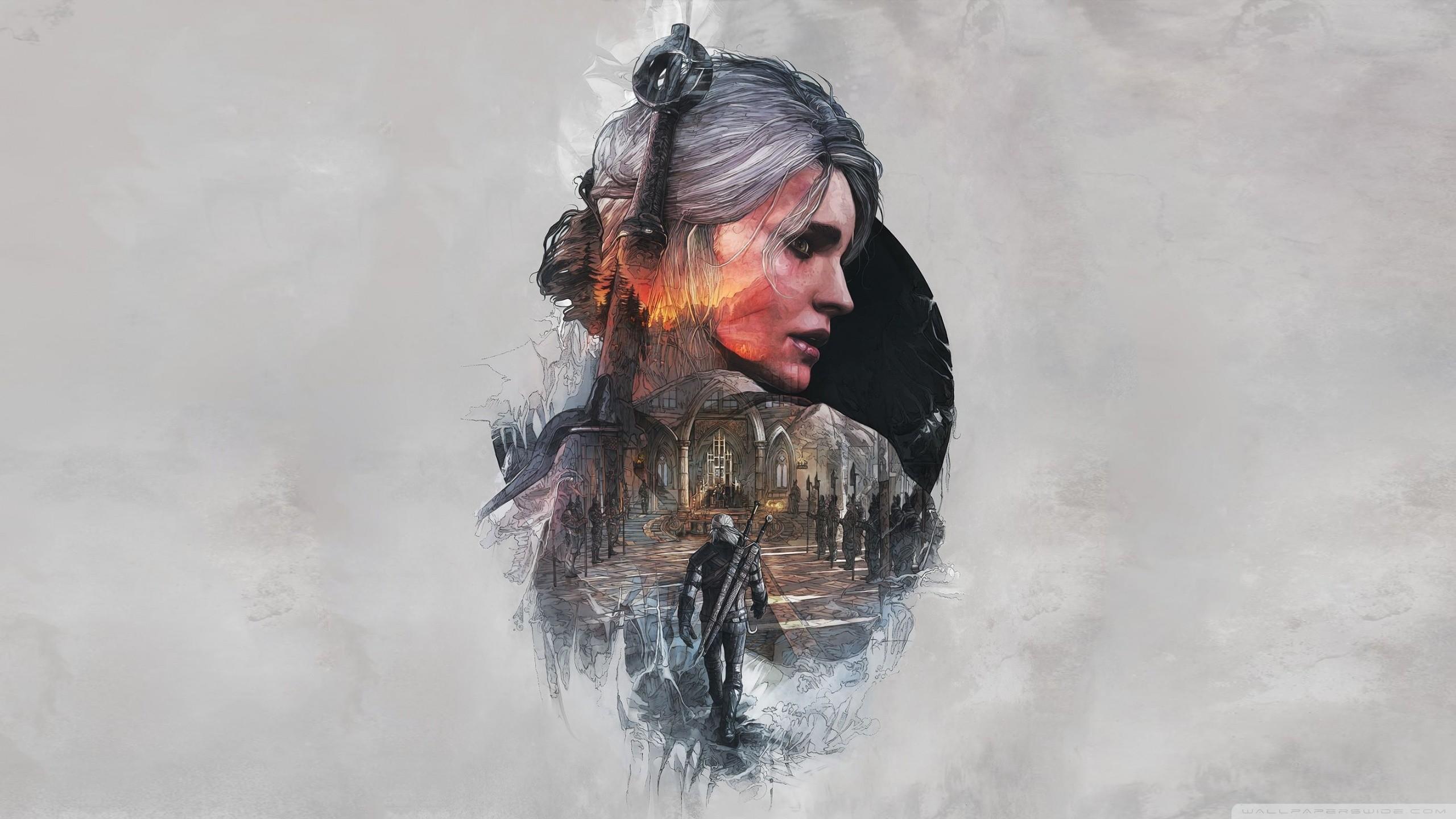 The Witcher 3 Wild Hunt Ciri FanArt HD Wide Wallpaper for Widescreen