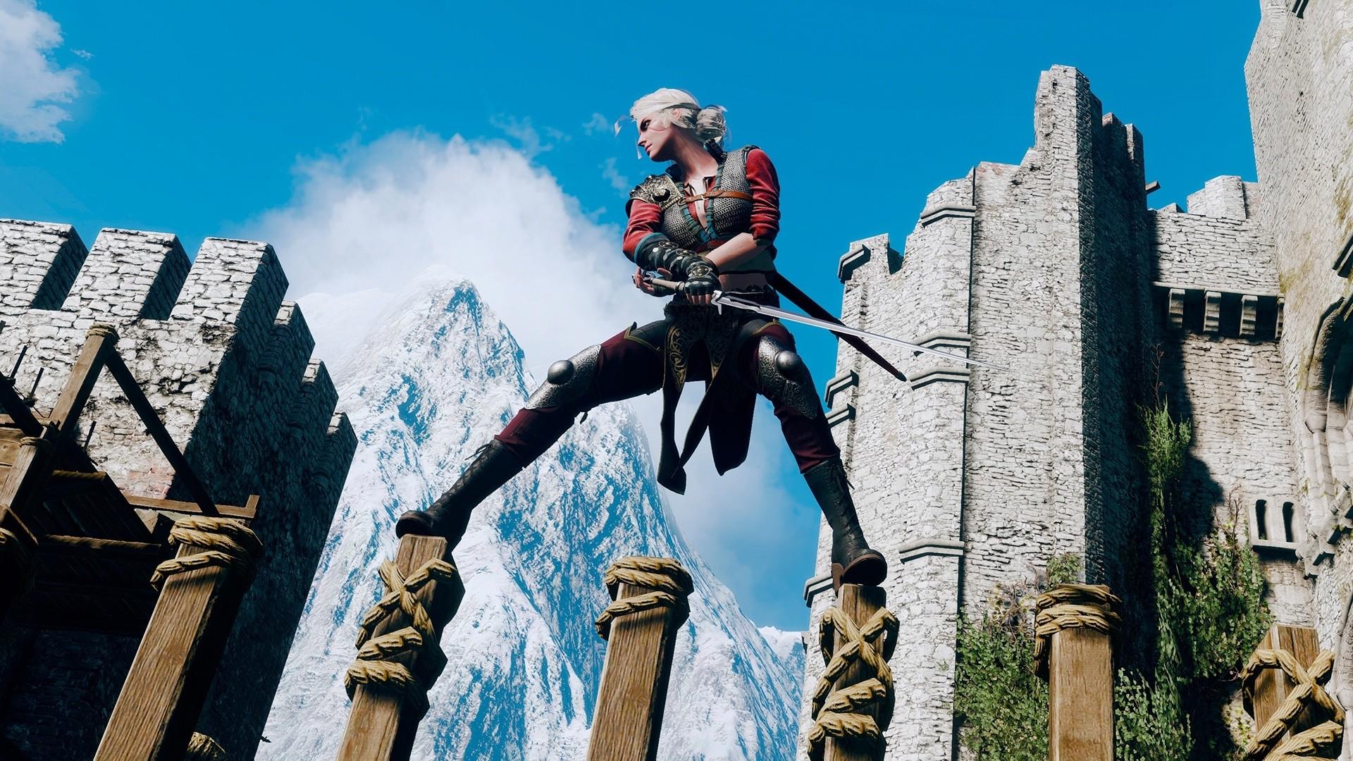 The Witcher 3 Ciri Training