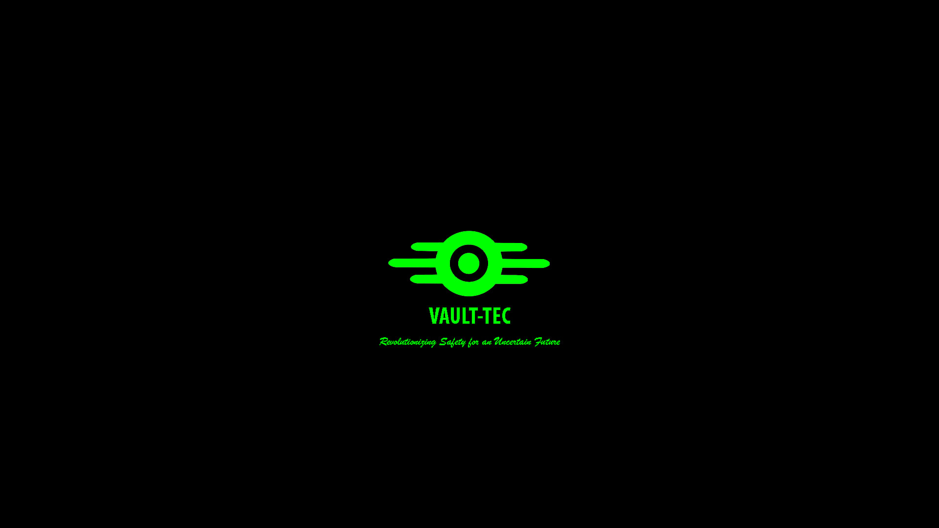 Green on black version: https://i.imgur.com/RsSOm0r.png. VAULT-TEC …