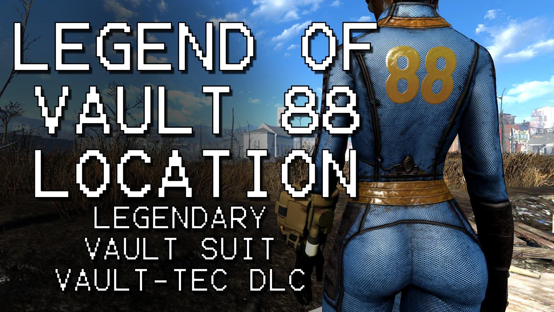 Fallout 4 – Legend of Vault 88 – Legendary Vault Suit Location (Vault-Tec  DLC) – YouTube