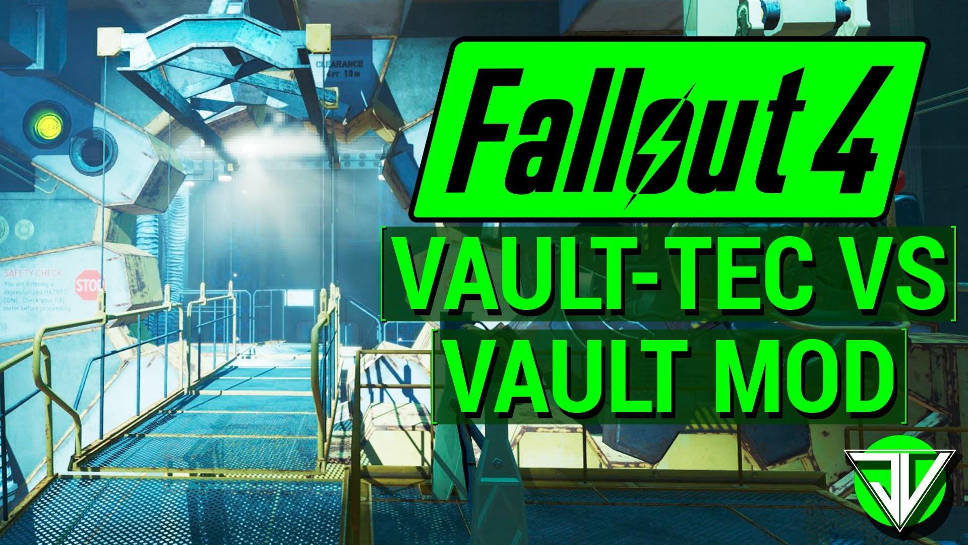 FALLOUT 4: Vault-Tec DLC vs. Vault Building Mod! (Comparing Workshop DLC  and Build Your Own Vault!) – YouTube