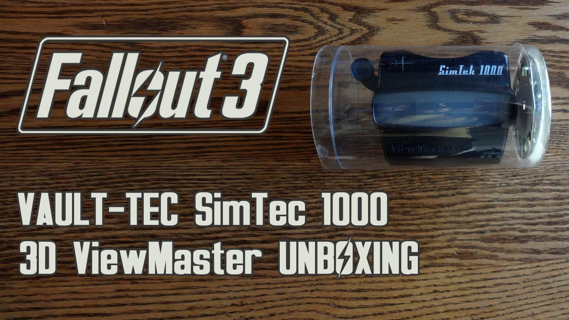 Fallout 3 VAULT-TEC SimTek 1000 3D ViewMaster from E3 2008 Unboxing &  Review – HD 1080p