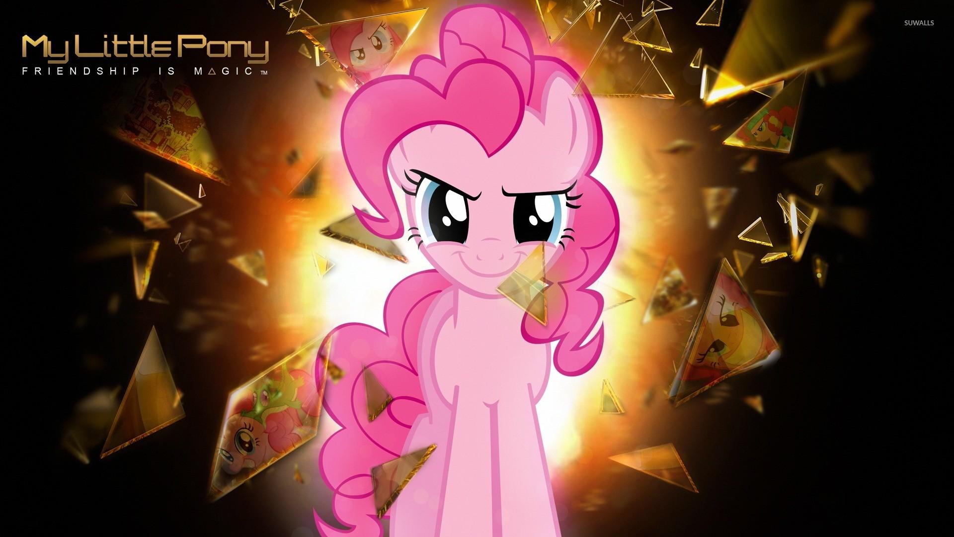 Pinkie Pie breaking a glass – My Little Pony wallpaper jpg