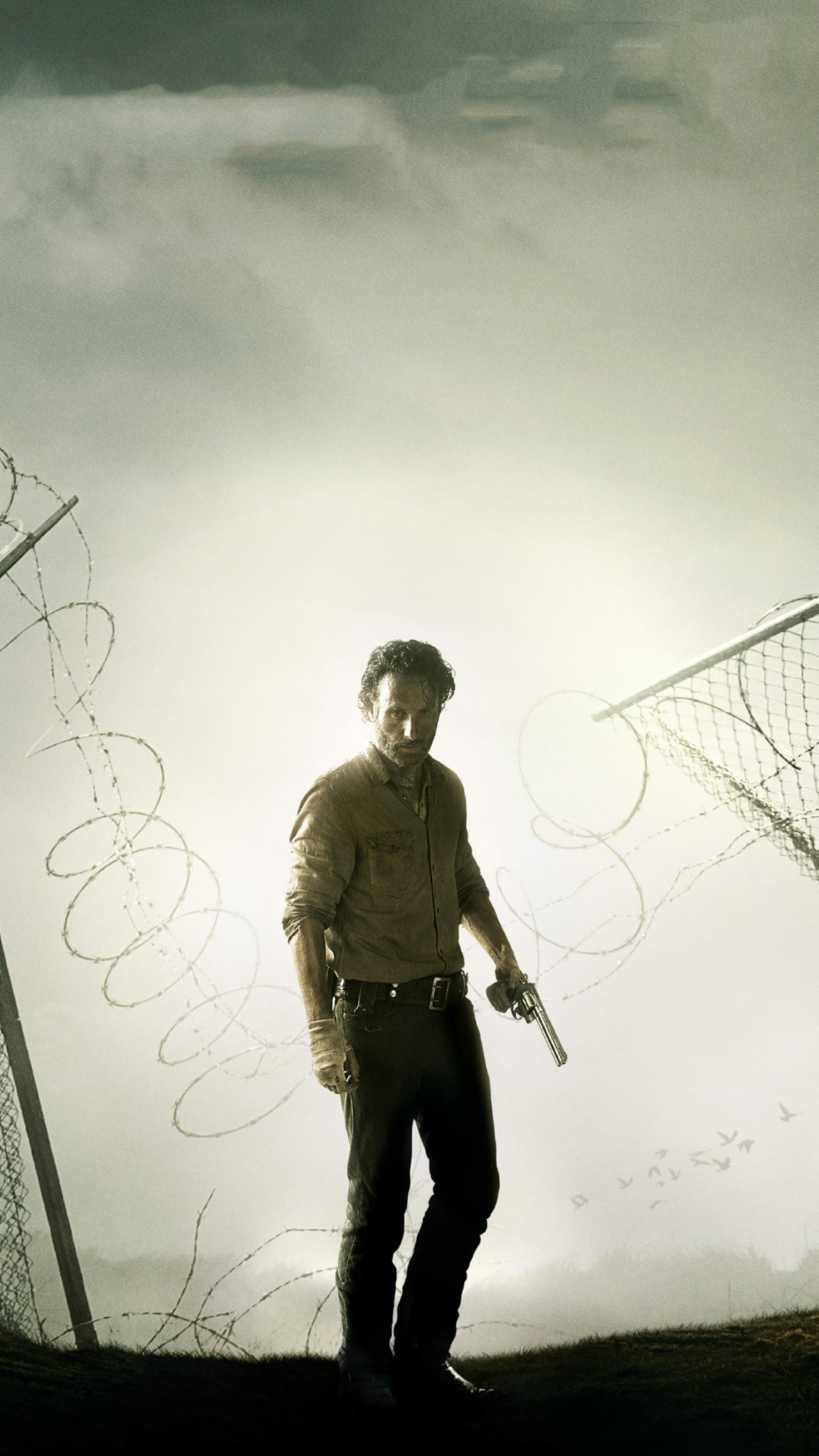 The walking dead rick iPhone 3Wallpapers Parallax Les 3 Wallpapers .