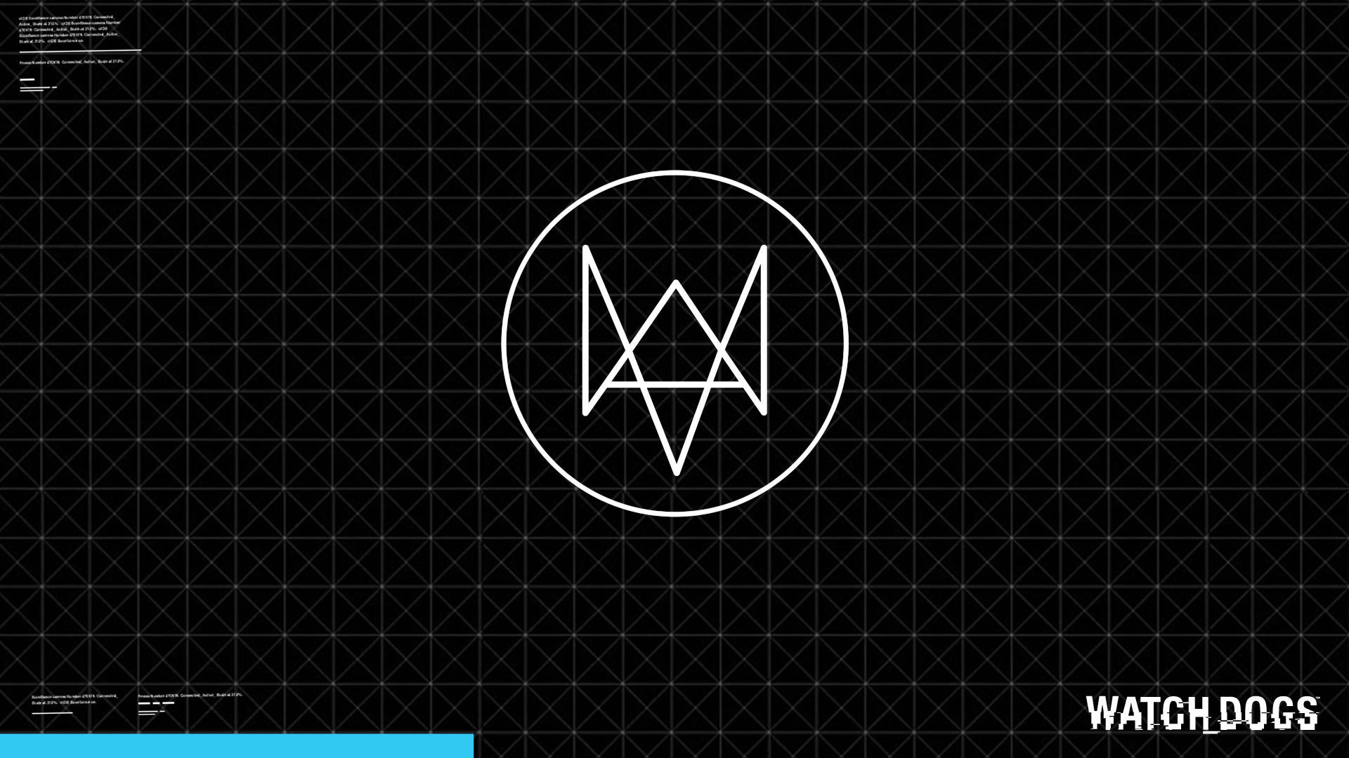 watch dogs game login logo. hd 1080p wallpaper and .