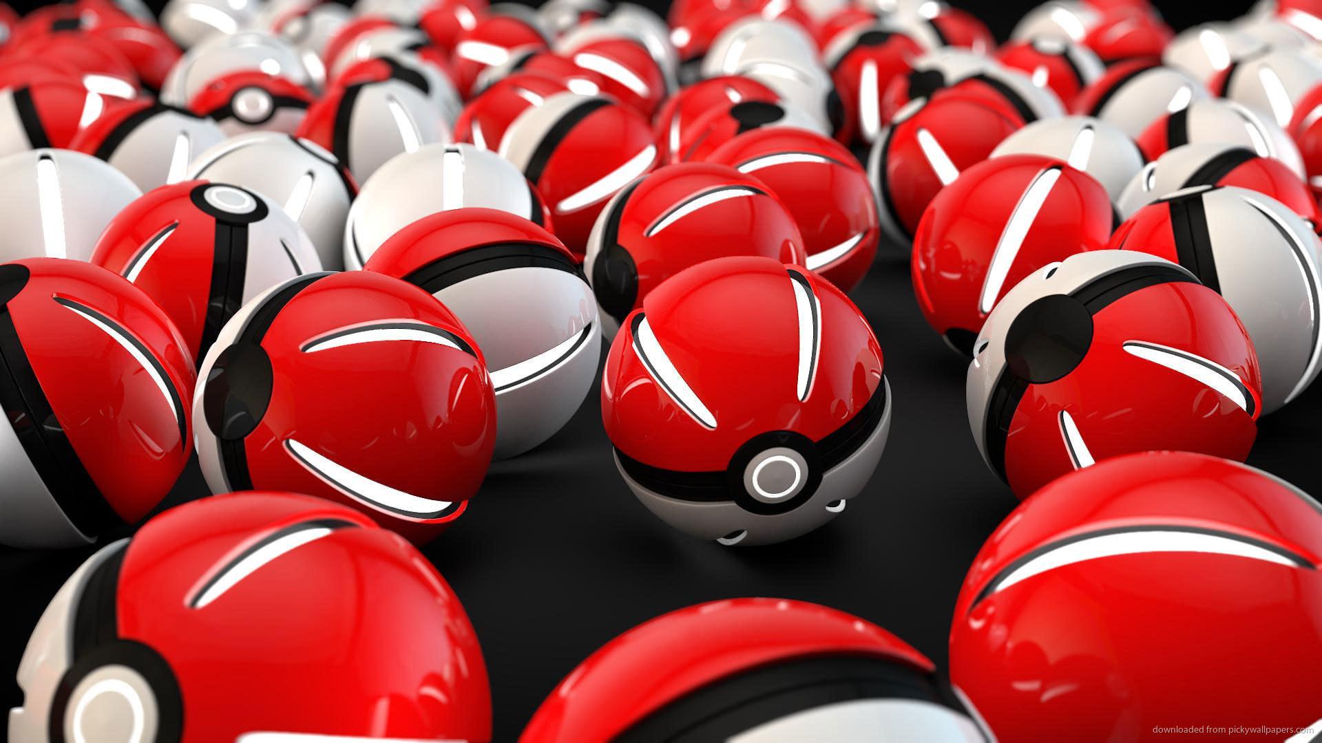 3D Pokemon Go Pokeball Wallpaper picture