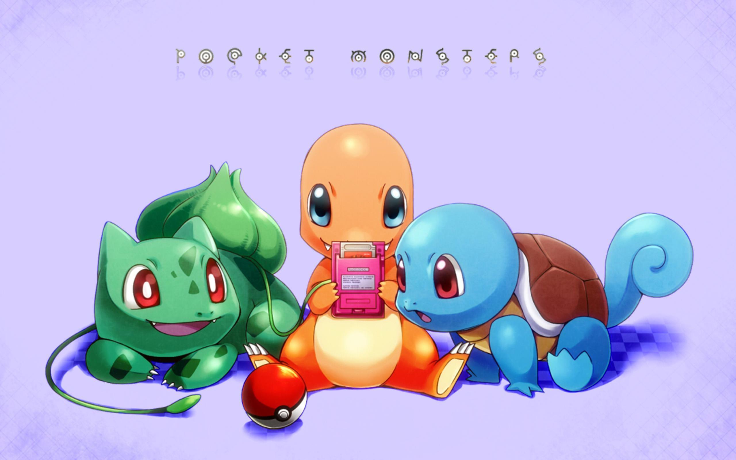 Video Game РPok̩mon Bulbasaur (Pok̩mon) Squirtle (Pok̩mon) Charmander ( Pok̩mon)