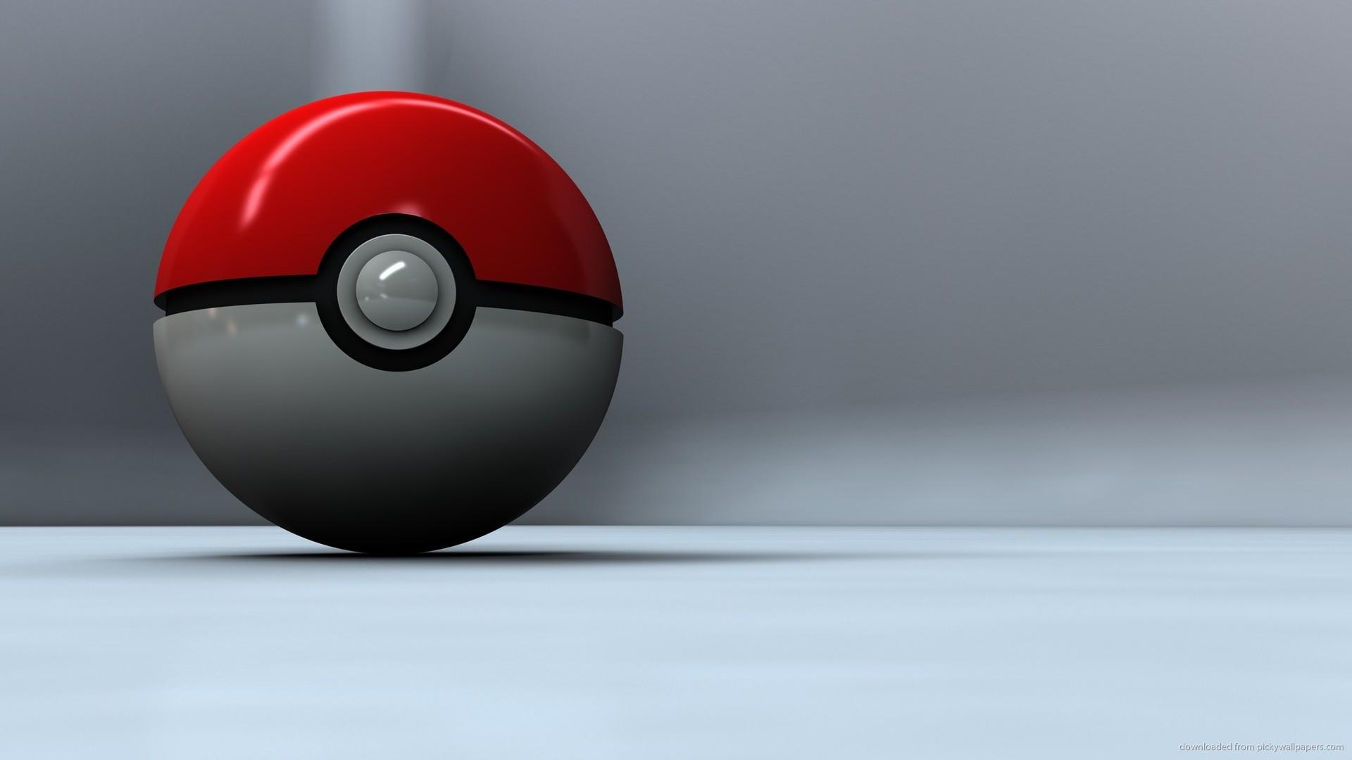 3D Poke Ball wallpaper
