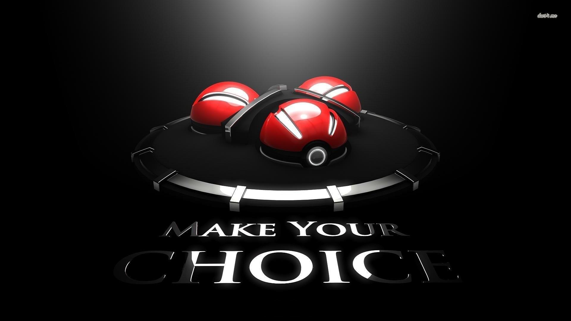 Make Your Choice. SHARE. TAGS: Pokeball Pokemon