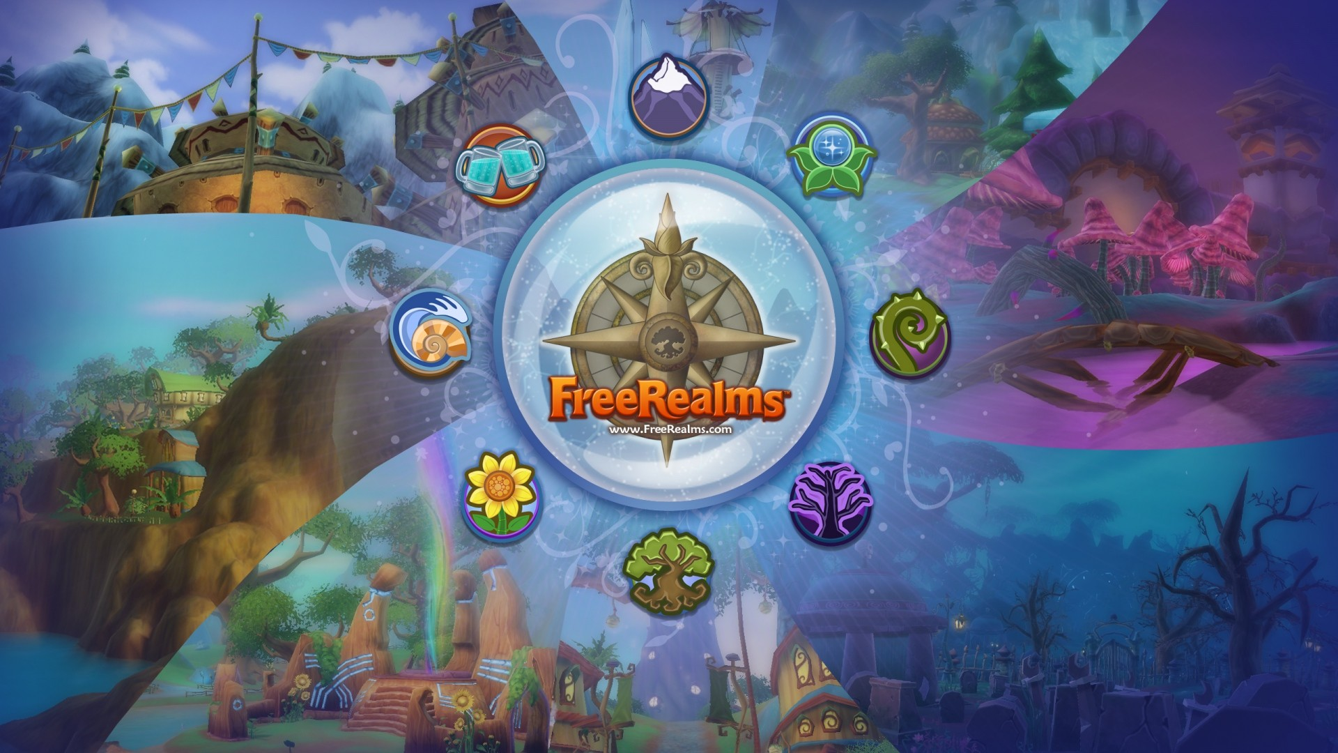 Preview wallpaper free realms, arcade, game, sony online entertainment  1920×1080