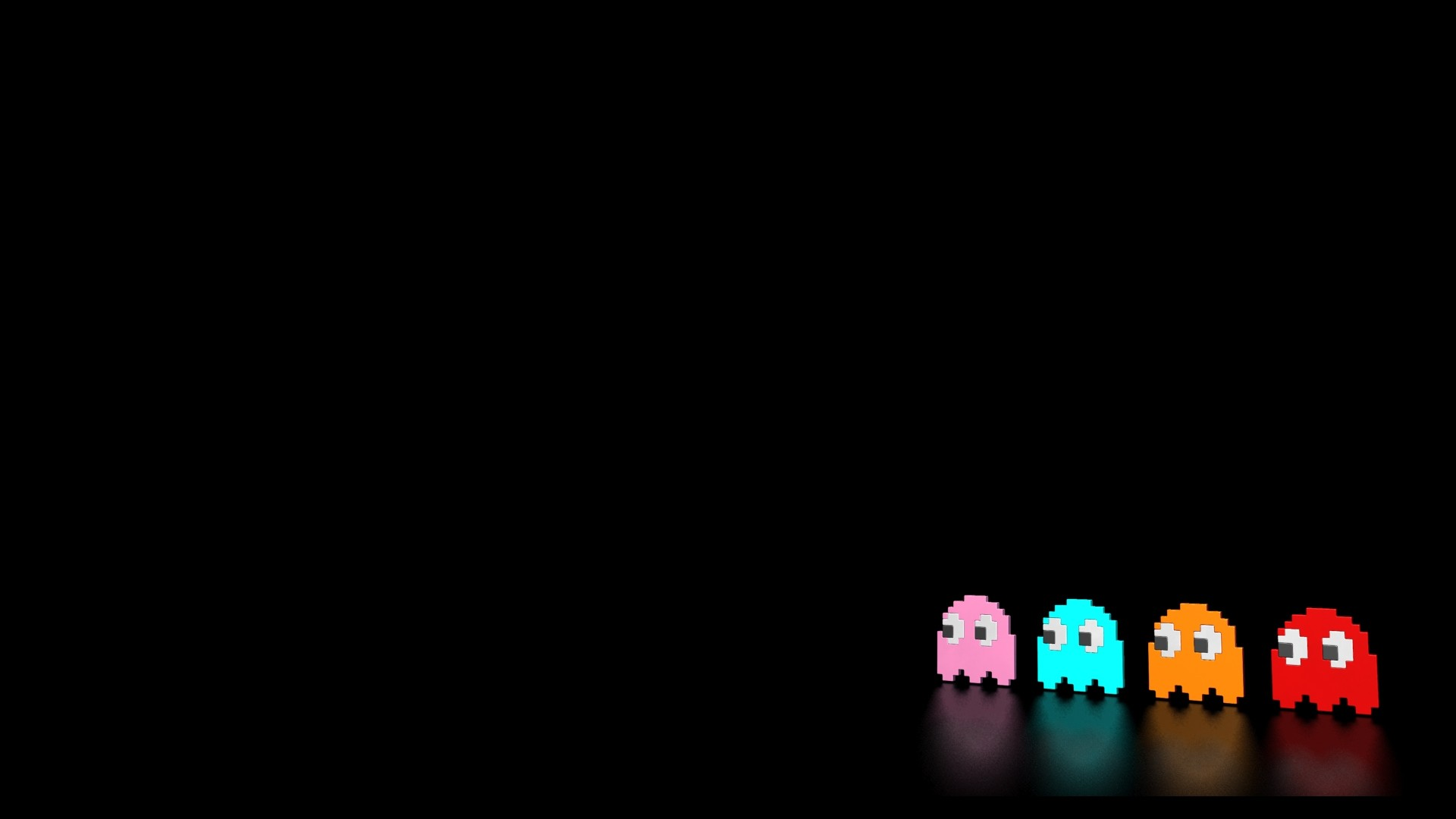 Pacman Ghosts Wallpaper, Reflective Pacman Ghosts iPhone Wallpaper .