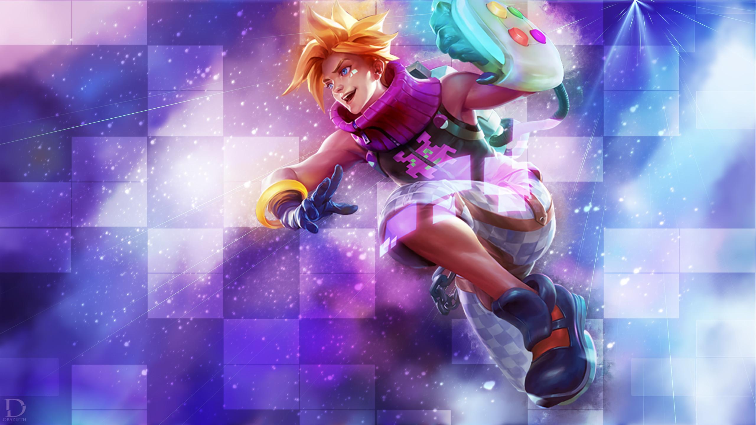 Arcade Ezreal by Drazieth HD Wallpaper Fan Art Artwork League of Legends lol
