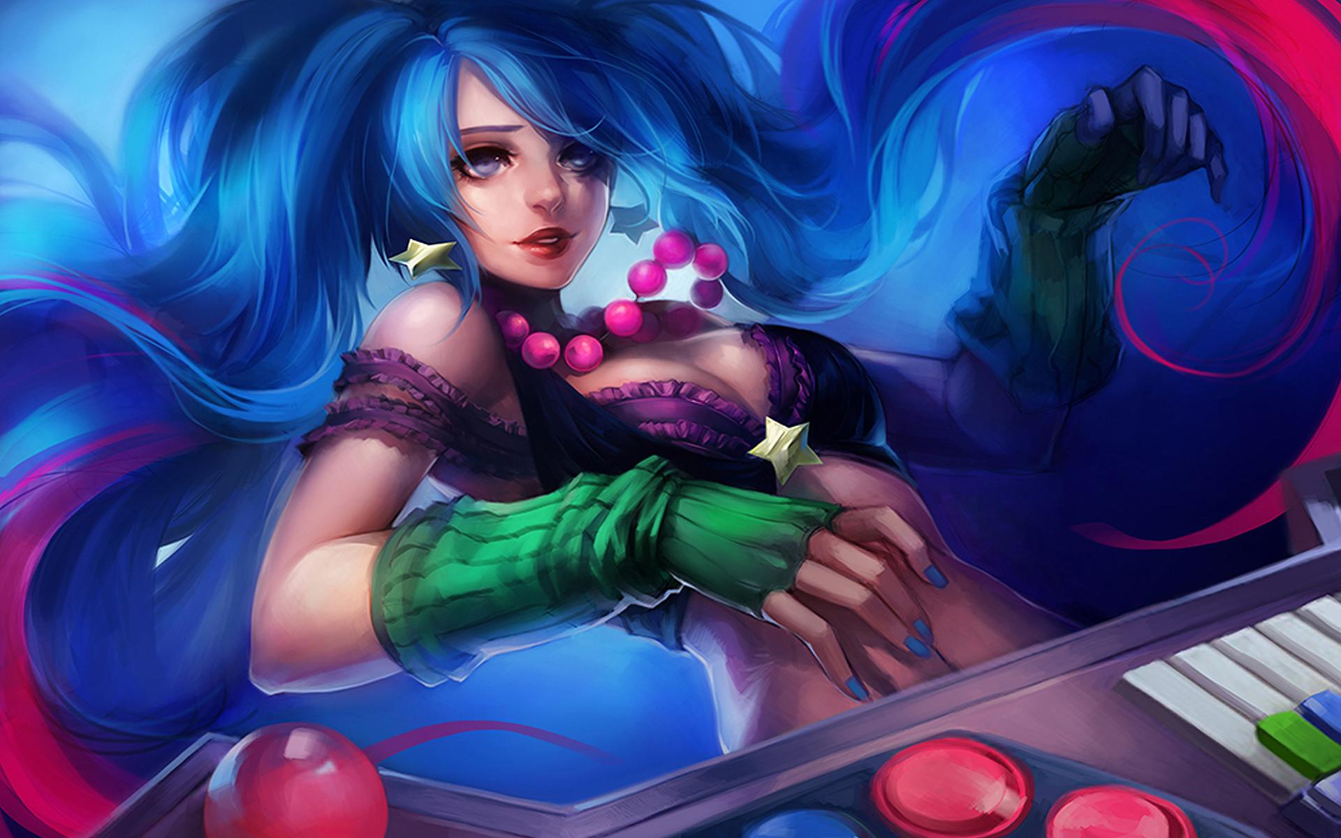 Arcade Sona Skin Splash League of Legends HD Wallpaper Ippus Girl