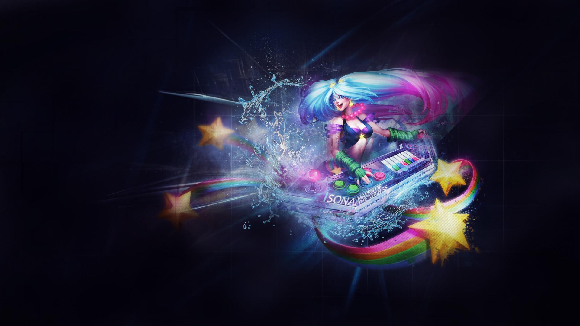 Arcade Sona by ChenWei91 HD Wallpaper Fan Art Artwork League of Legends lol