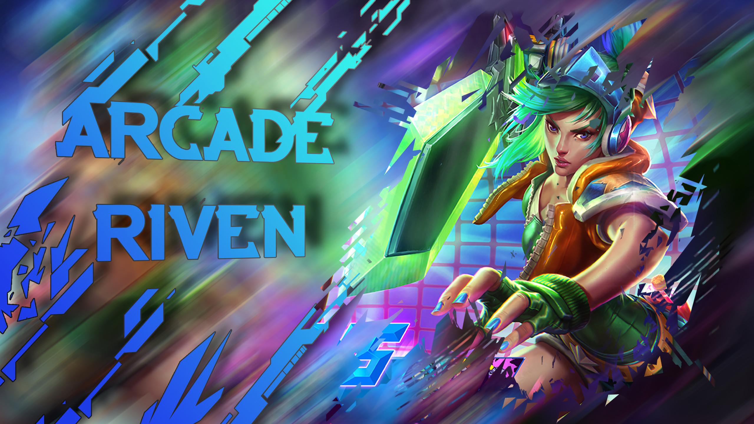 Arcade Riven by Steruto HD Wallpaper Fan Art Artwork League of Legends lol