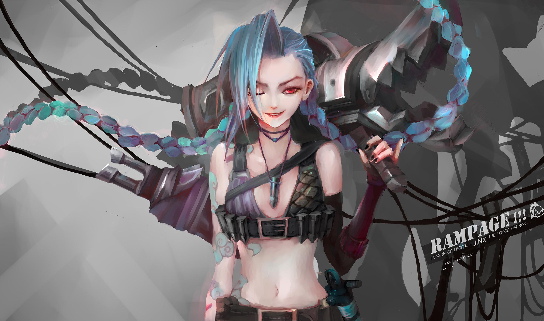 135 Jinx (League Of Legends) HD Wallpapers | Backgrounds .