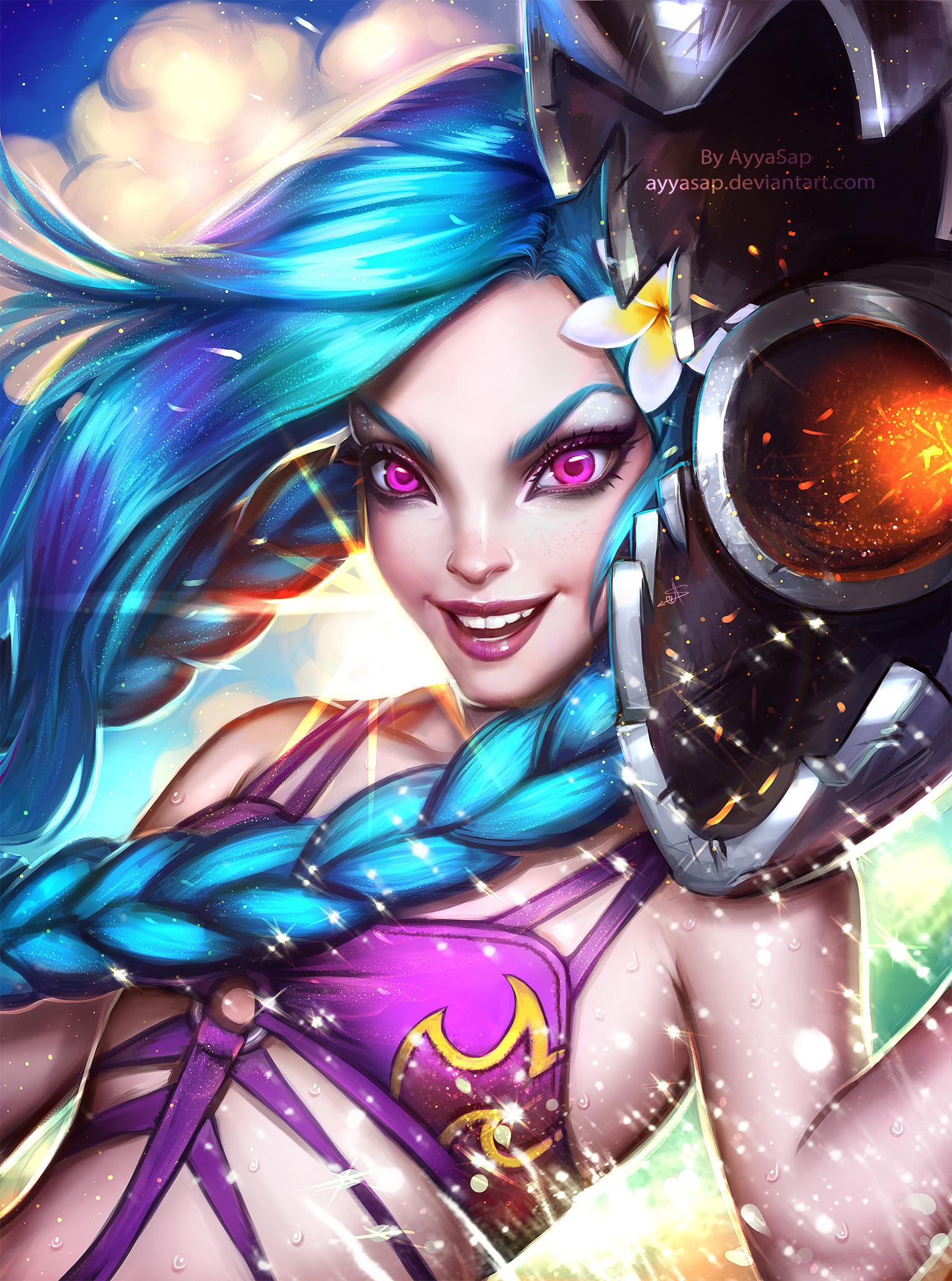 Jinx by AyyaSAP (5) HD Wallpaper Fan Art Artwork League of Legends lol