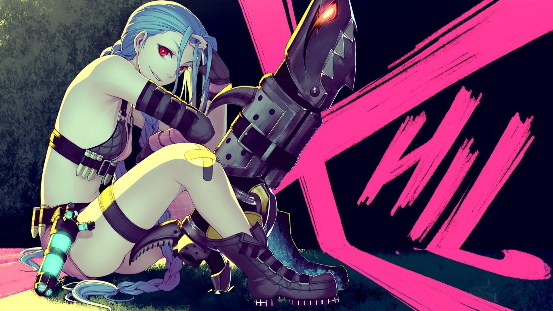 anime Girls, League Of Legends, Jinx (League Of Legends) Wallpapers HD /  Desktop and Mobile Backgrounds
