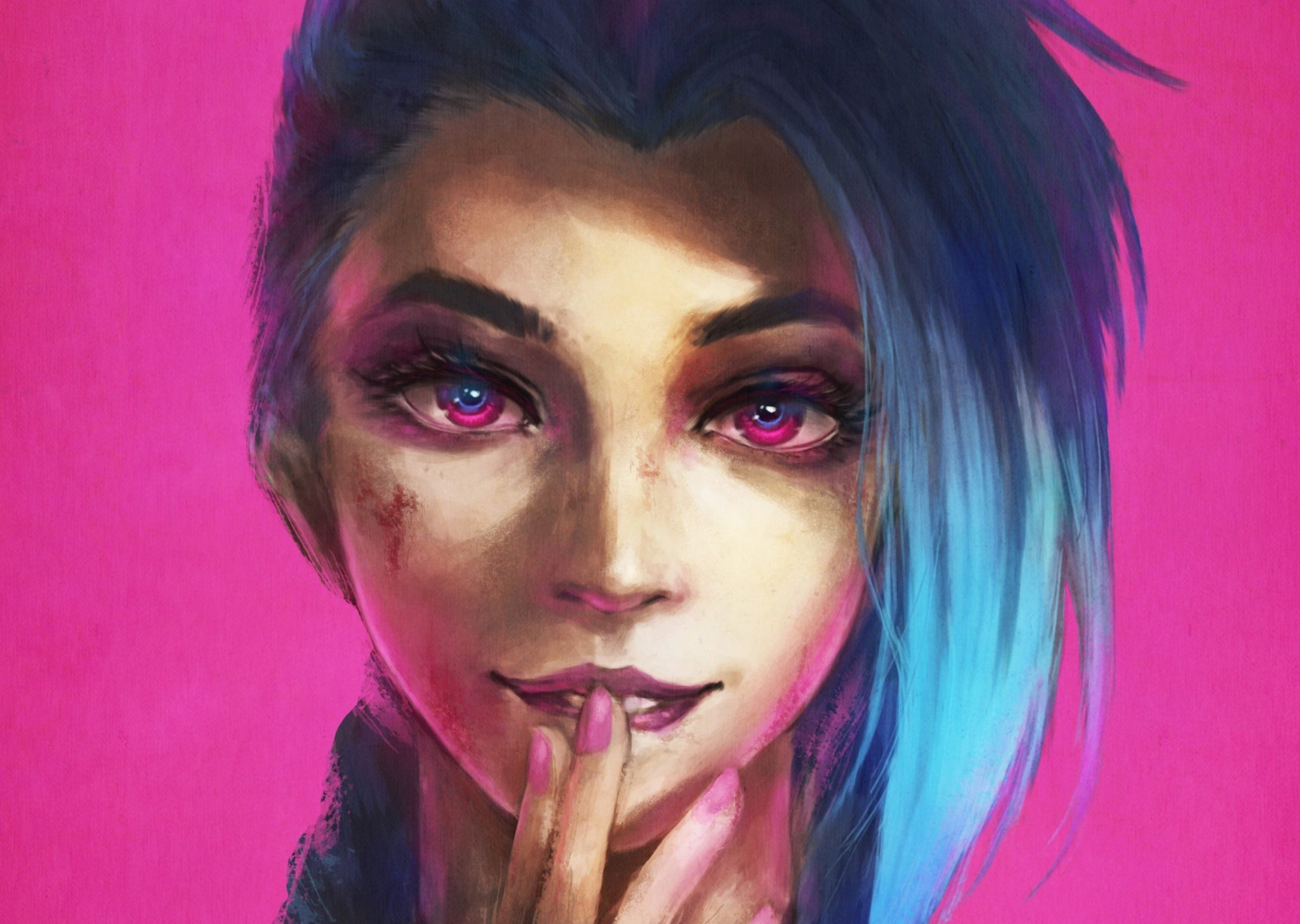 Jinx League of Legends Painting Wallpapers, Images