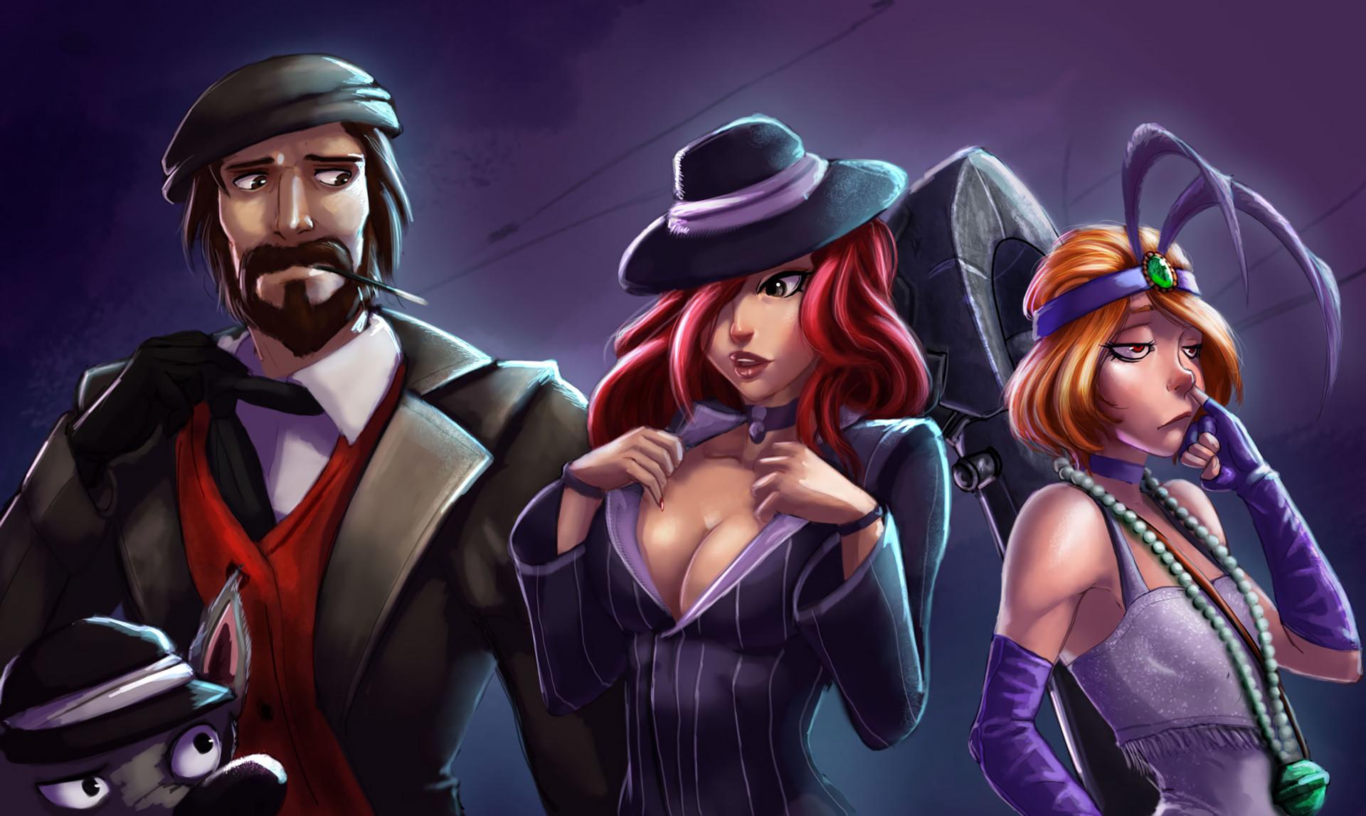 Mafia Graves, Miss Fortune & Jinx by Raichiyo33 HD Wallpaper Fan Art  Artwork League of