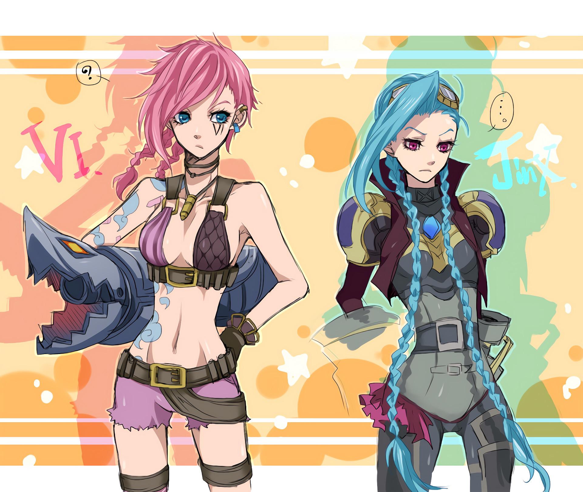 Vi & Jinx by 柿P HD Wallpaper Fan Art Artwork League of Legends lol HD