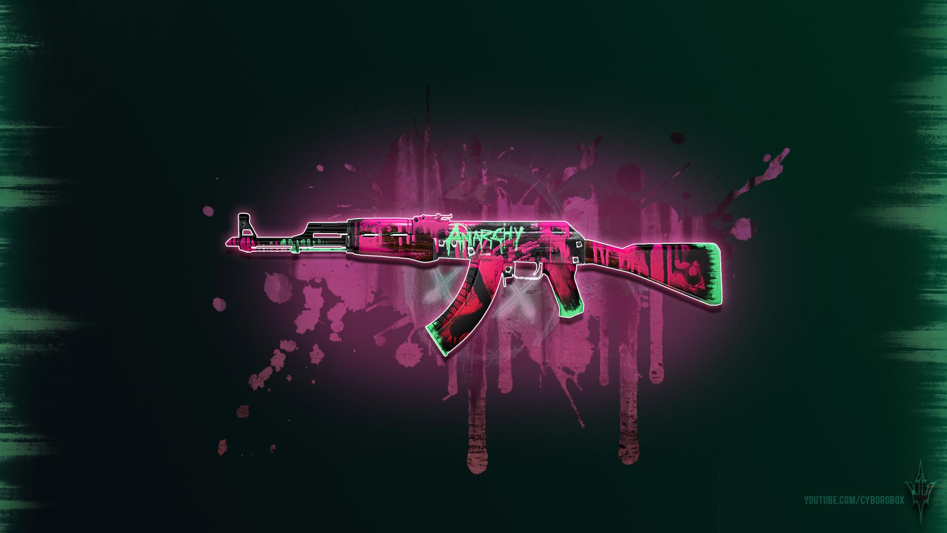 CSGO AK 47 Neon Revolution Wallpaper 1080p