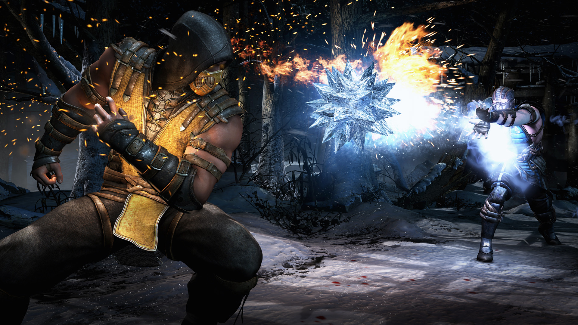 Scorpion vs Sub Zero HD Wallpaper. Fighting + Games + Mortal Kombat X