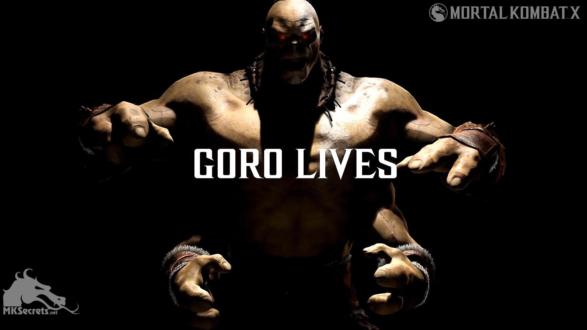 Mortal Kombat X Goro Lives Wallpaper