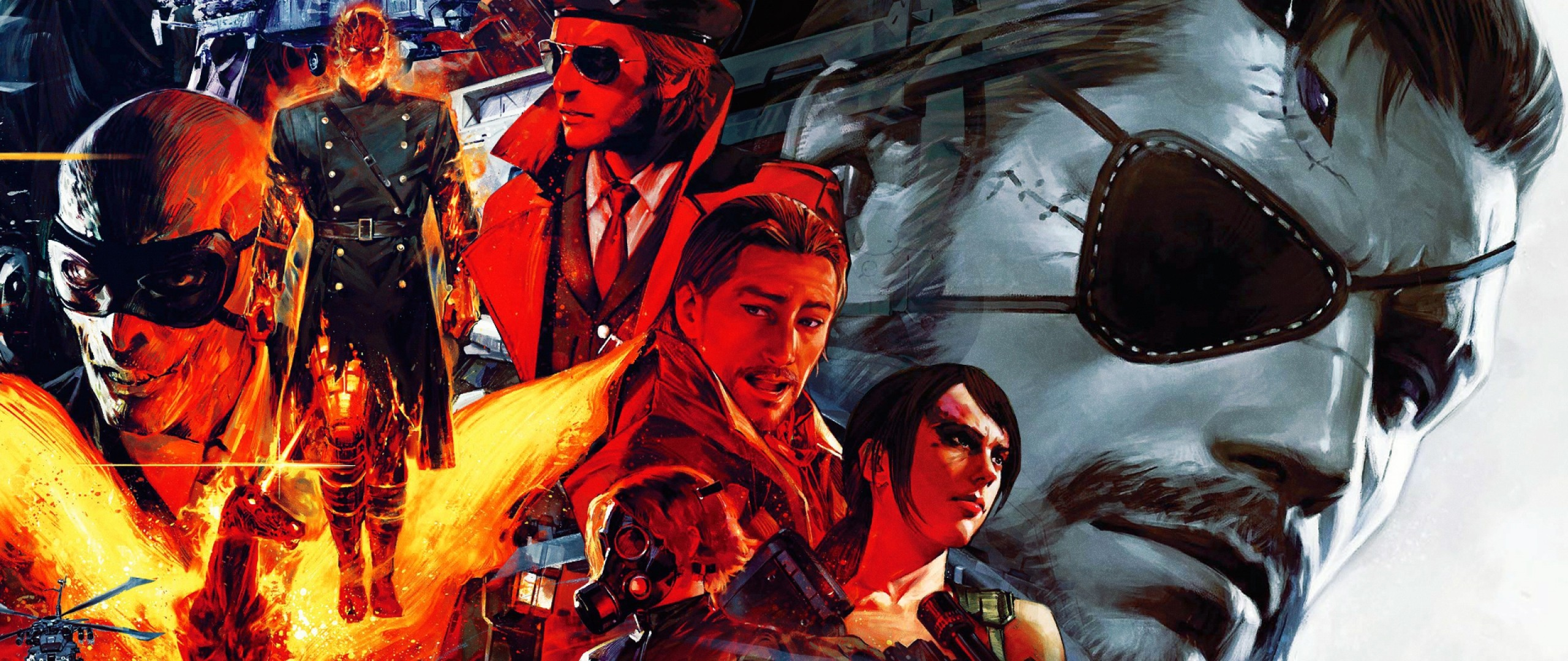 Preview wallpaper metal gear solid v, the phantom pain, characters 2560×1080