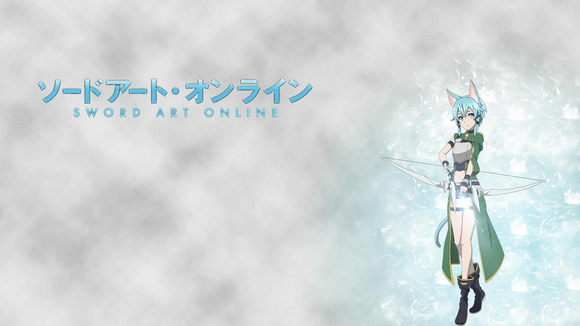 Wallpaper I made with Sinon from Sword Art Online 2 …