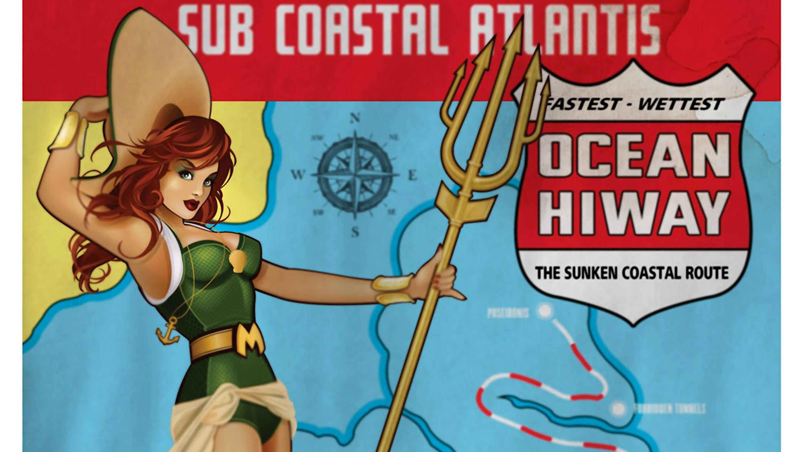 Aquaman Mera Bombshell Dc Comics wallpaper | | 602378 |  WallpaperUP