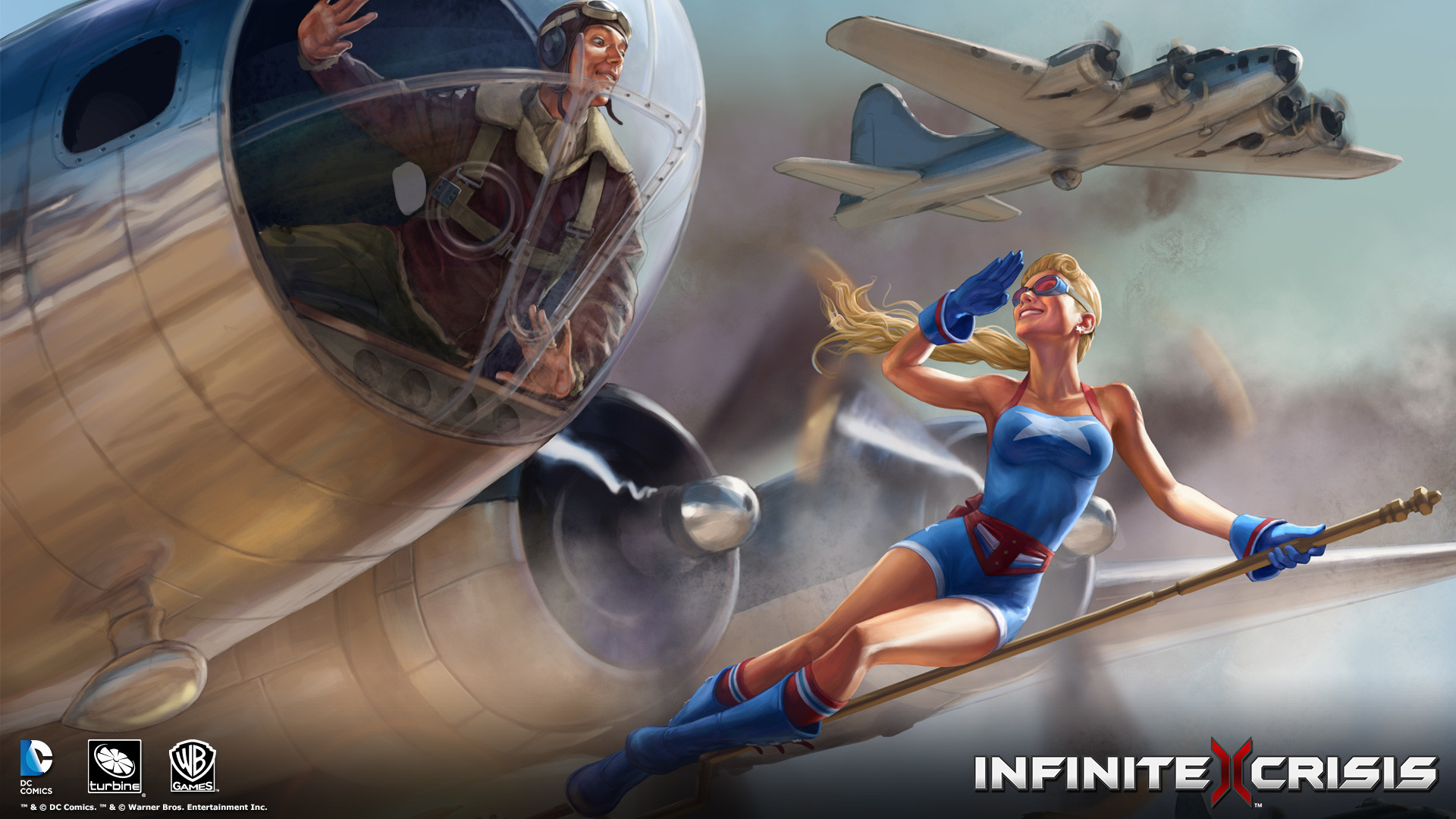 """""""This amazing Bombshell Stargirl wallpaper is available now from the  Infinite Crisis team."""