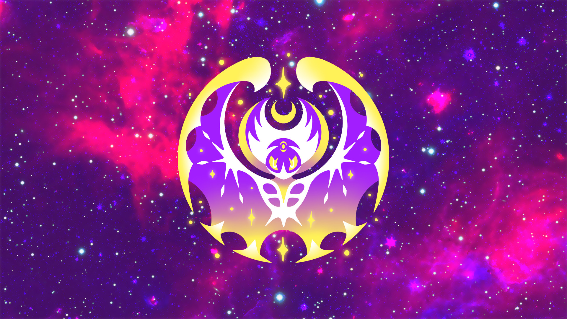 Video Game РPok̩mon Sun and Moon Lunala (Pok̩mon) Wallpaper
