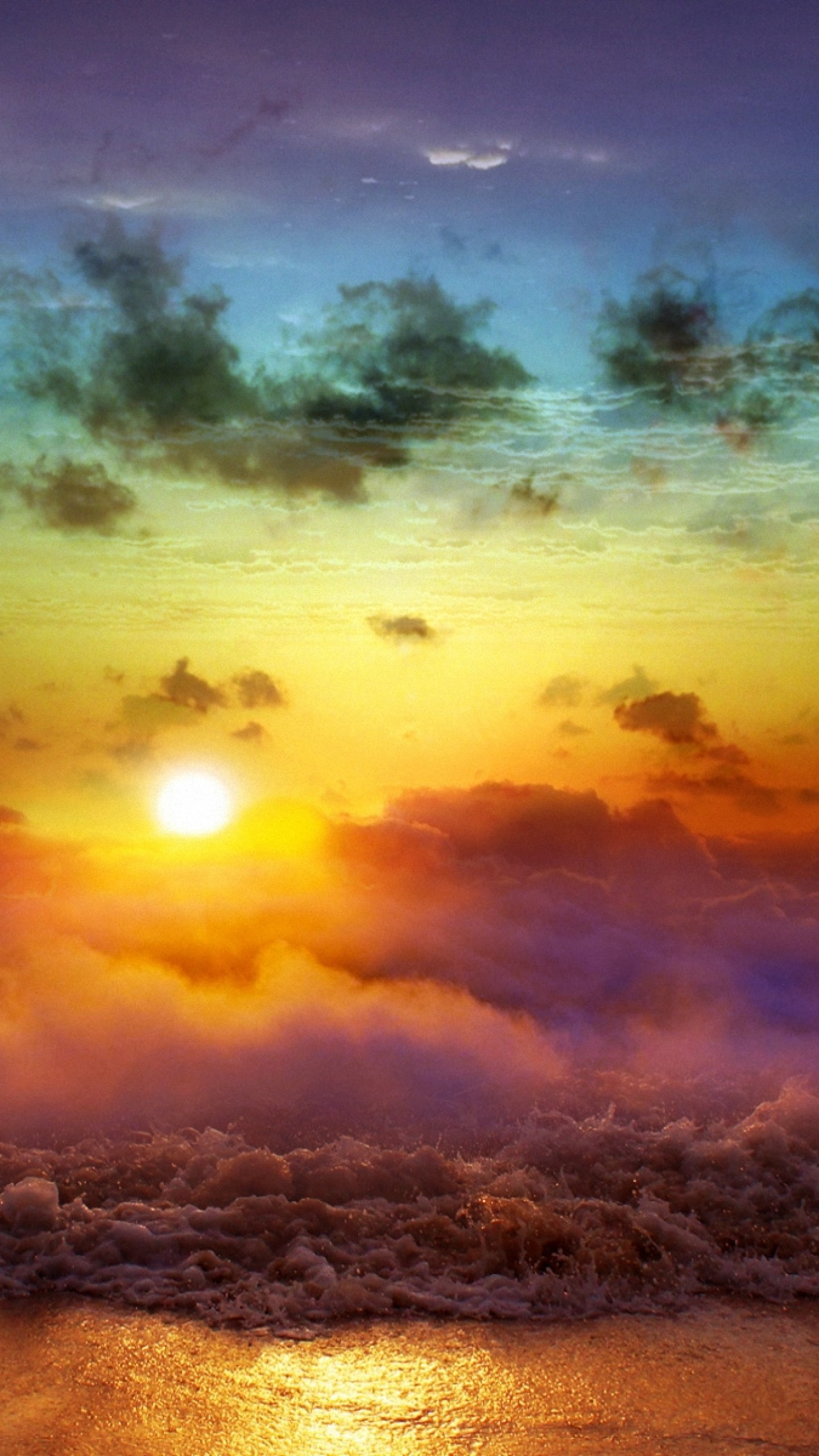 Preview wallpaper moon, sun, decline, evening, merge, day, night,