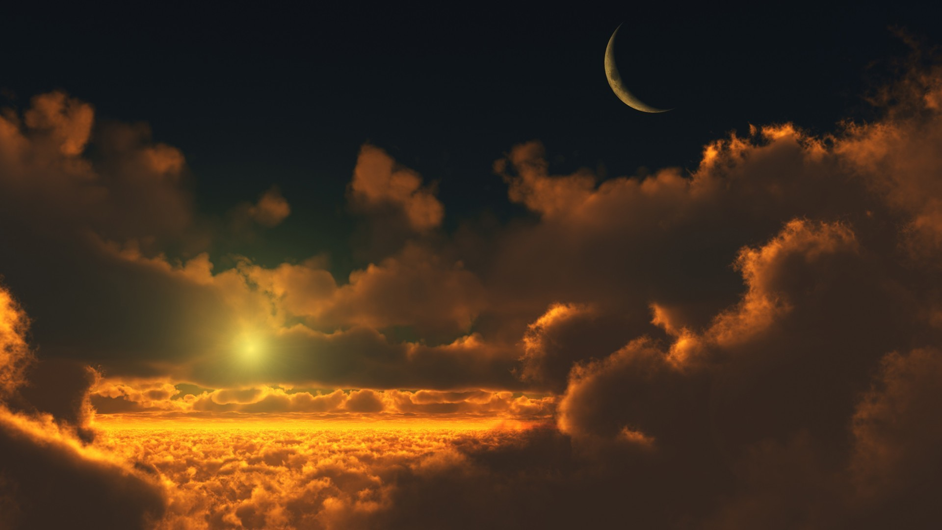 Sunset and moonrise wallpaper #3440 · sun and moon …