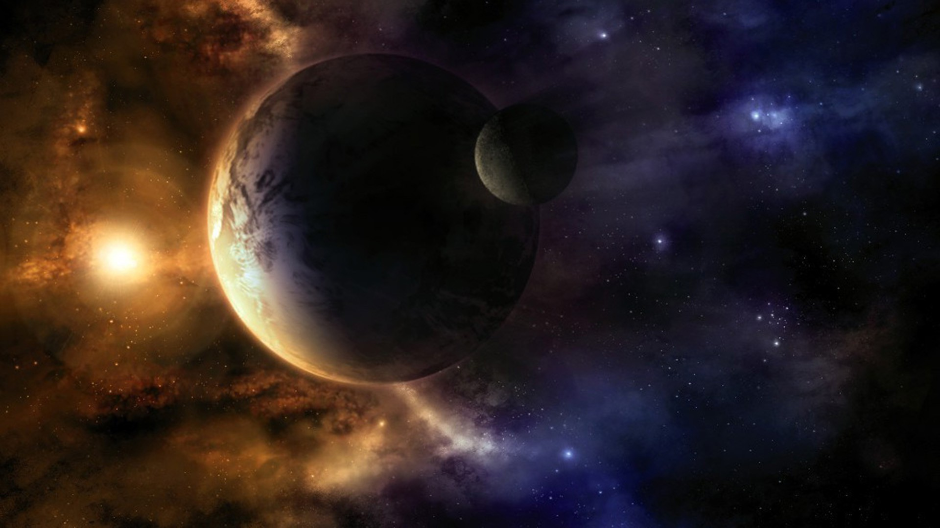 sun moon earth space wallpaper pc android iphone and ipad wallpapers .