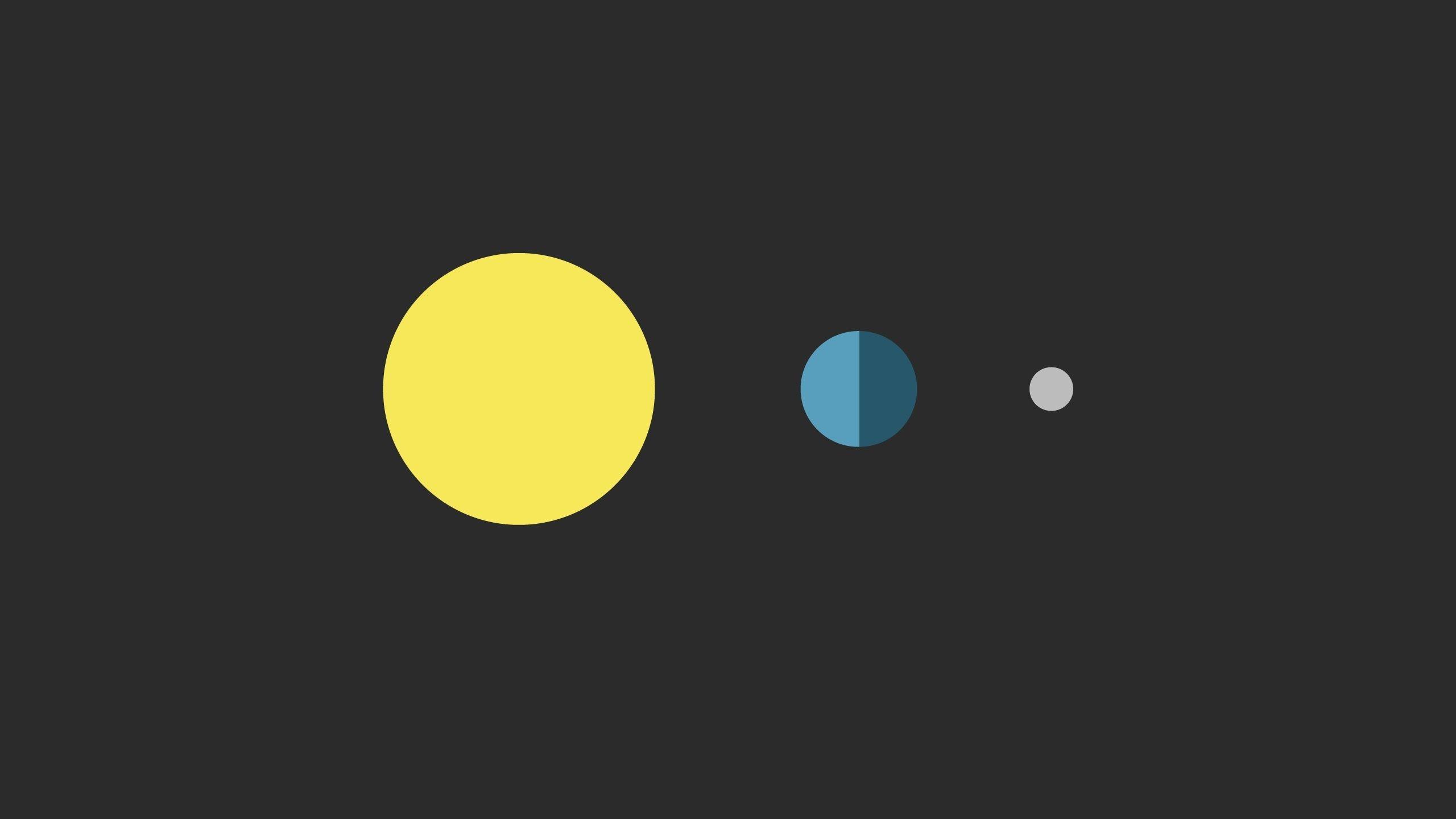 Sun Earth Moon desktop PC and Mac wallpaper