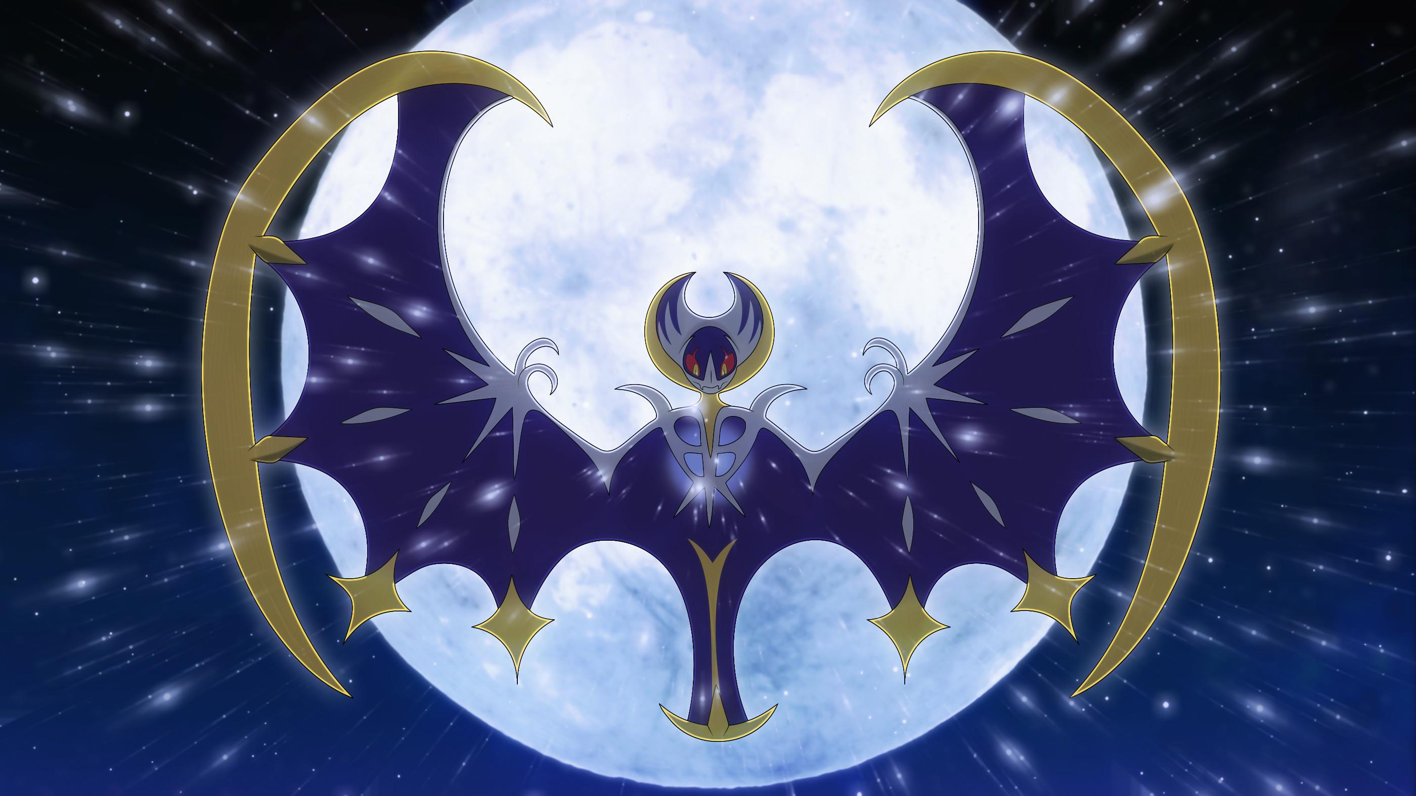 Video Game РPok̩mon Sun and Moon Lunala (Pok̩mon) Pok̩mon Pok̩mon Moon  Wallpaper