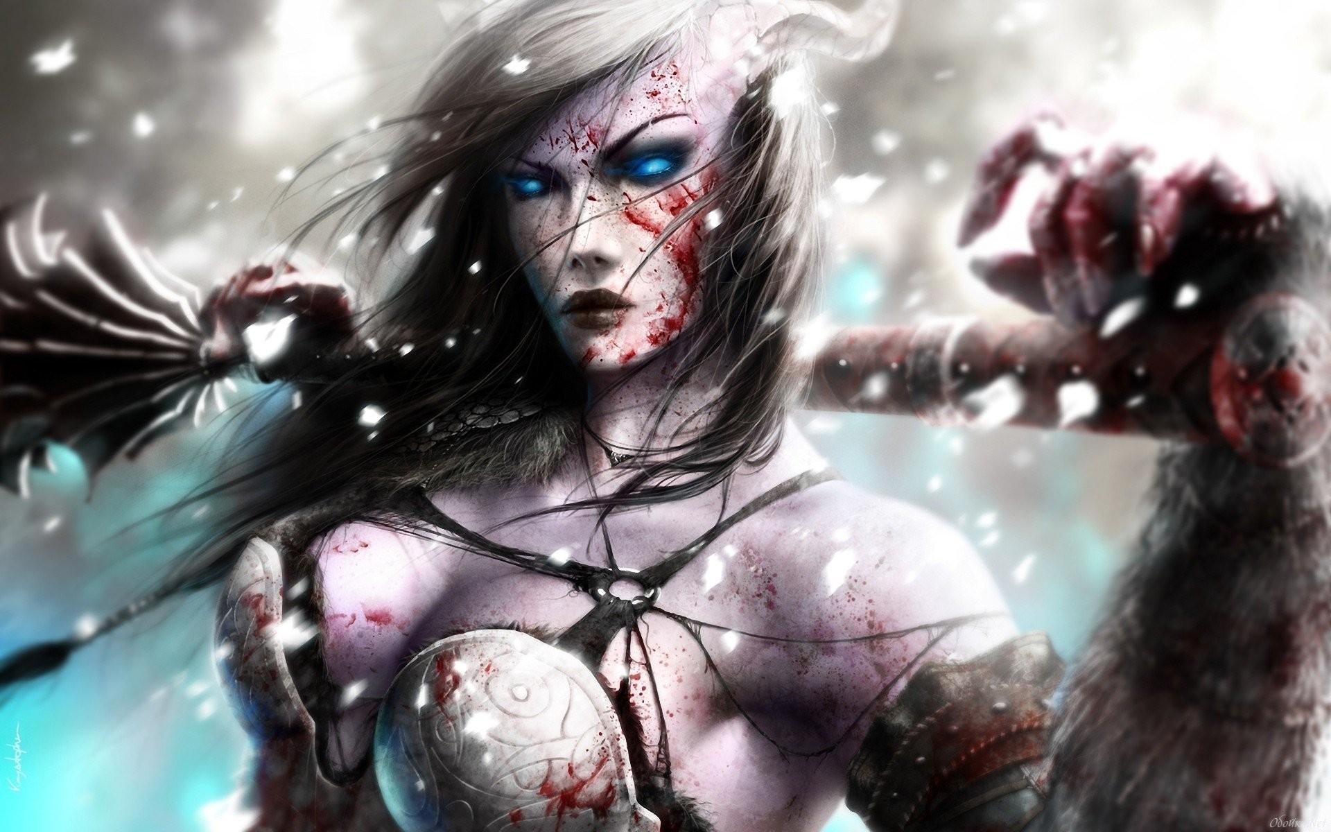 Women Fantasy Art World Of Warcraft Draenei …