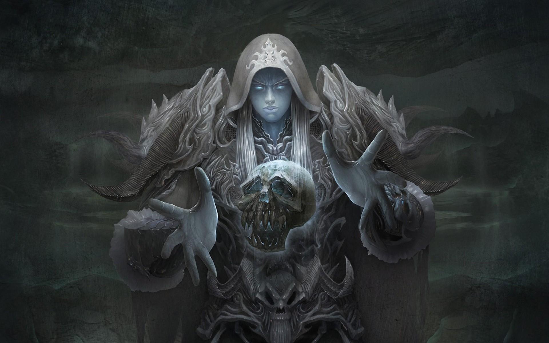 Armor Artwork Draenei Fantasy Art Skulls Video Games Women World Of  Warcraft …
