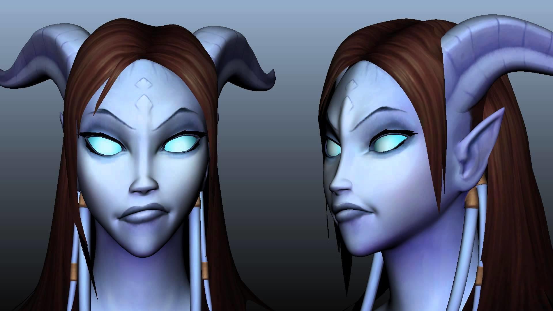 Female Draenei – Facial Range of Motion