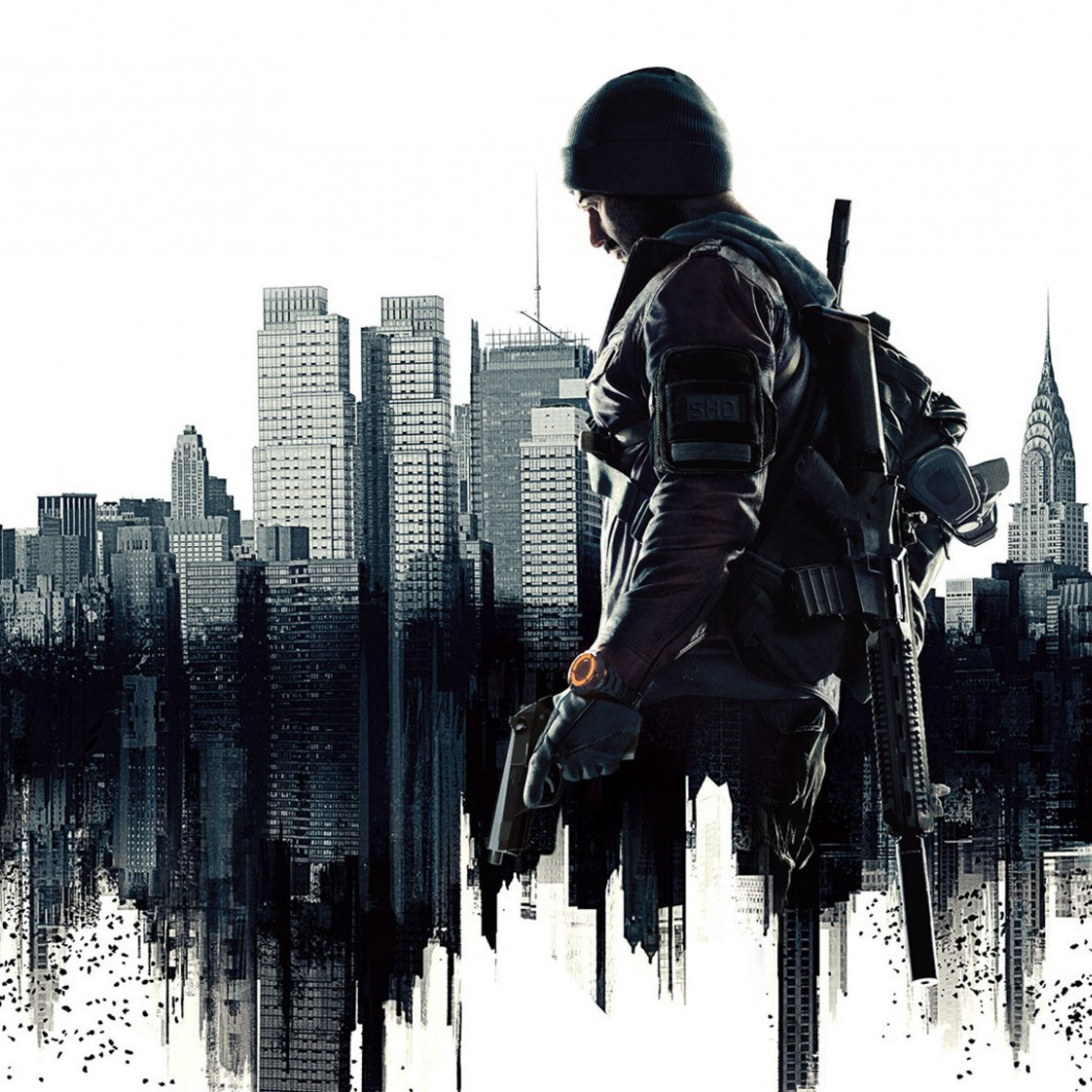 Preview wallpaper the division, agent, art 2048×2048